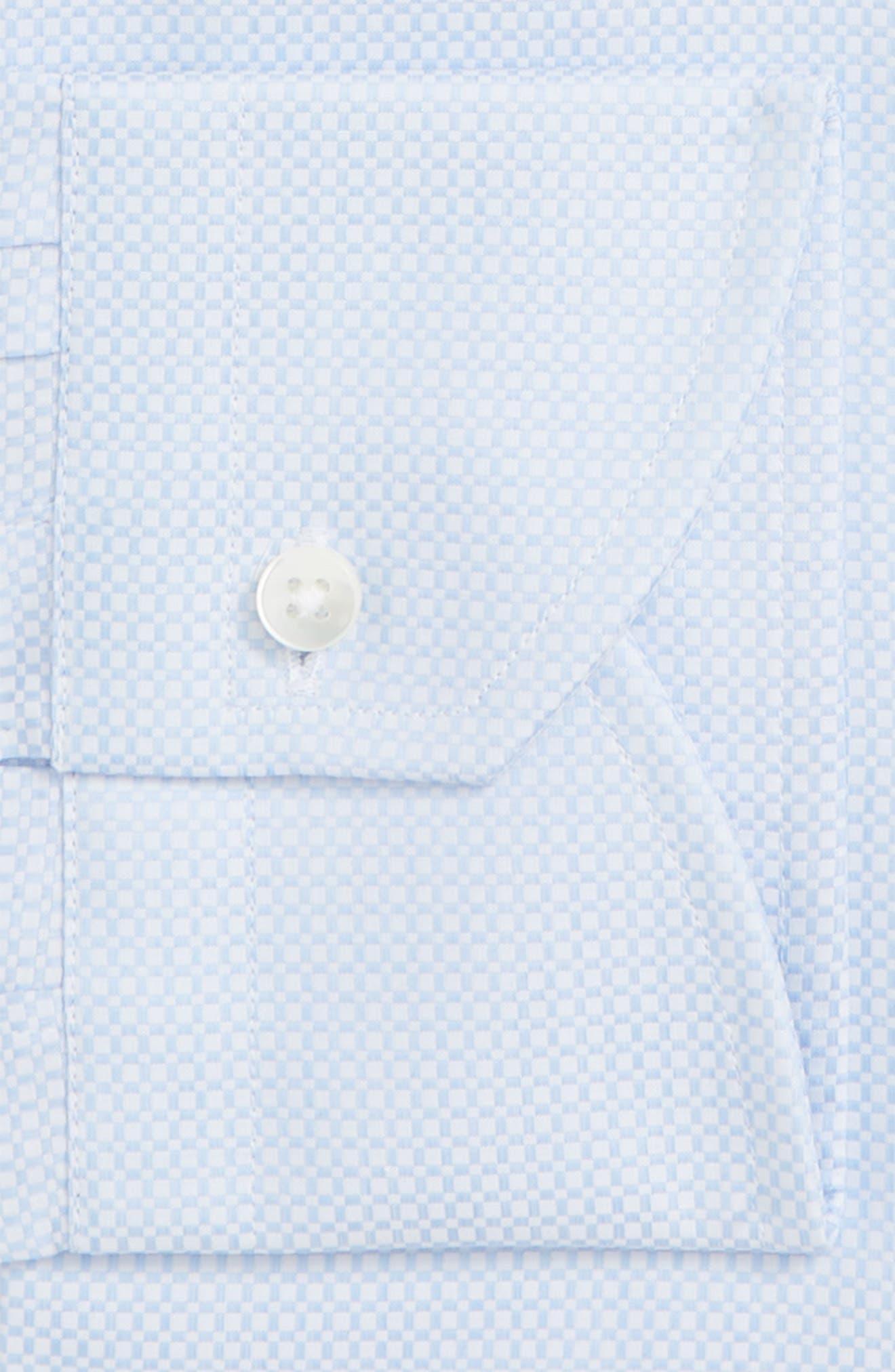 Trim Fit Geometric Dress Shirt,                             Alternate thumbnail 6, color,                             LIGHT BLUE