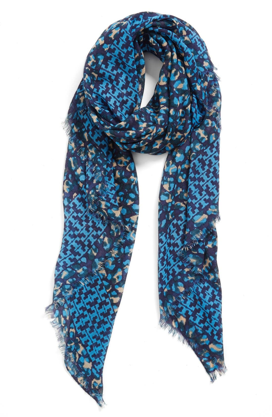 'Panthra - Small T' Wool Scarf,                             Main thumbnail 1, color,                             400