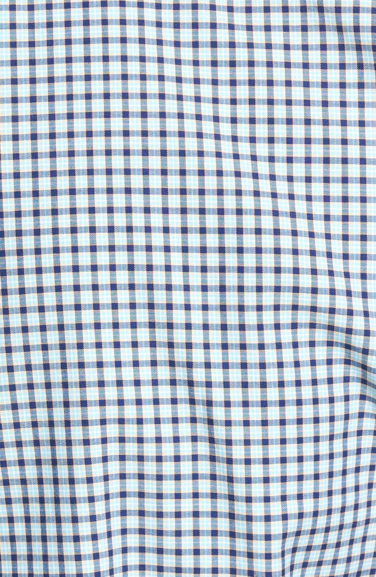 Classic Fit Alligator Check Sport Shirt,                             Alternate thumbnail 14, color,