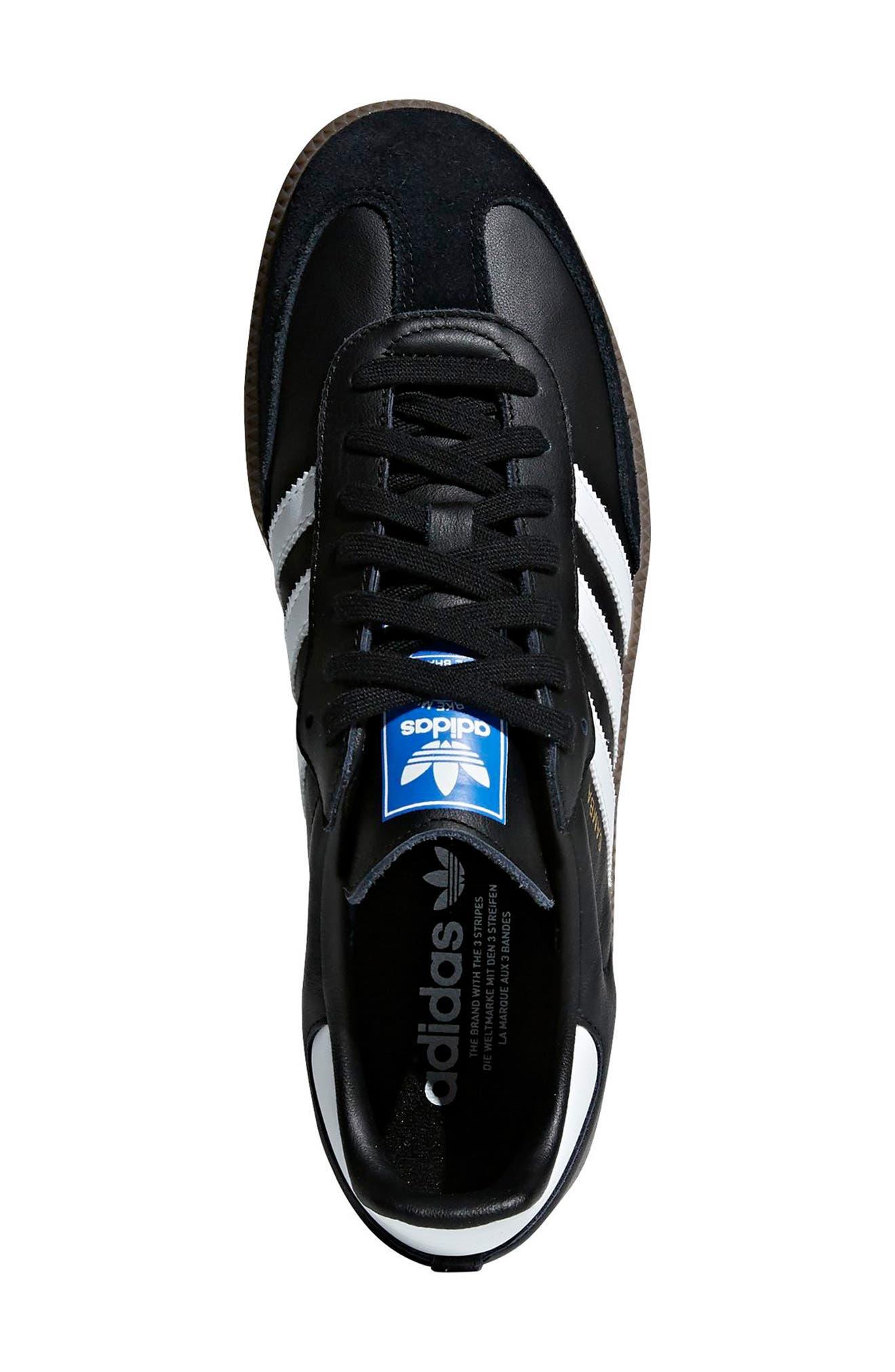 Samba OG Sneaker,                             Alternate thumbnail 2, color,                             BLACK/ WHITE/ GUM