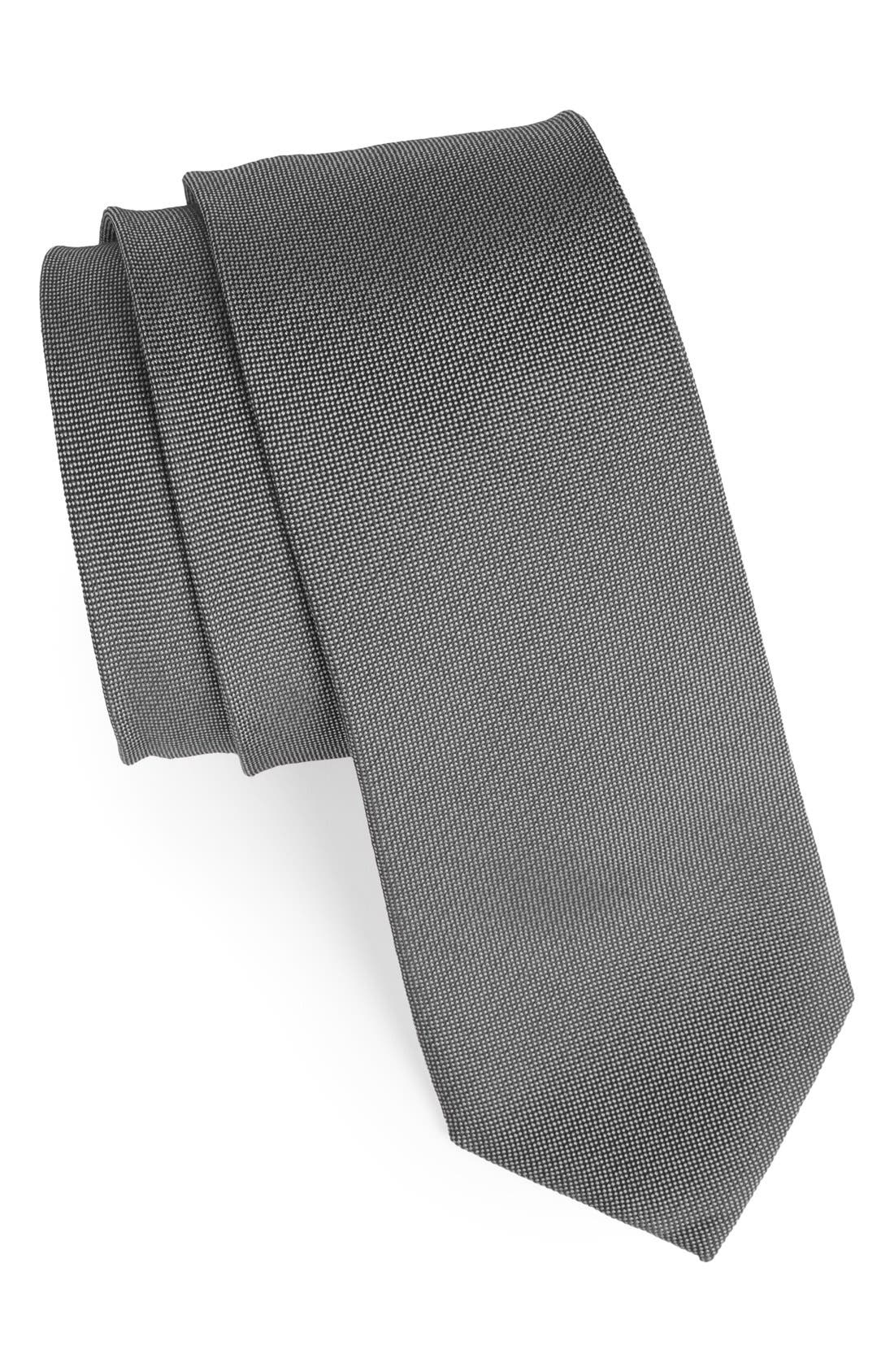 Woven Silk & Cotton Tie,                             Main thumbnail 1, color,