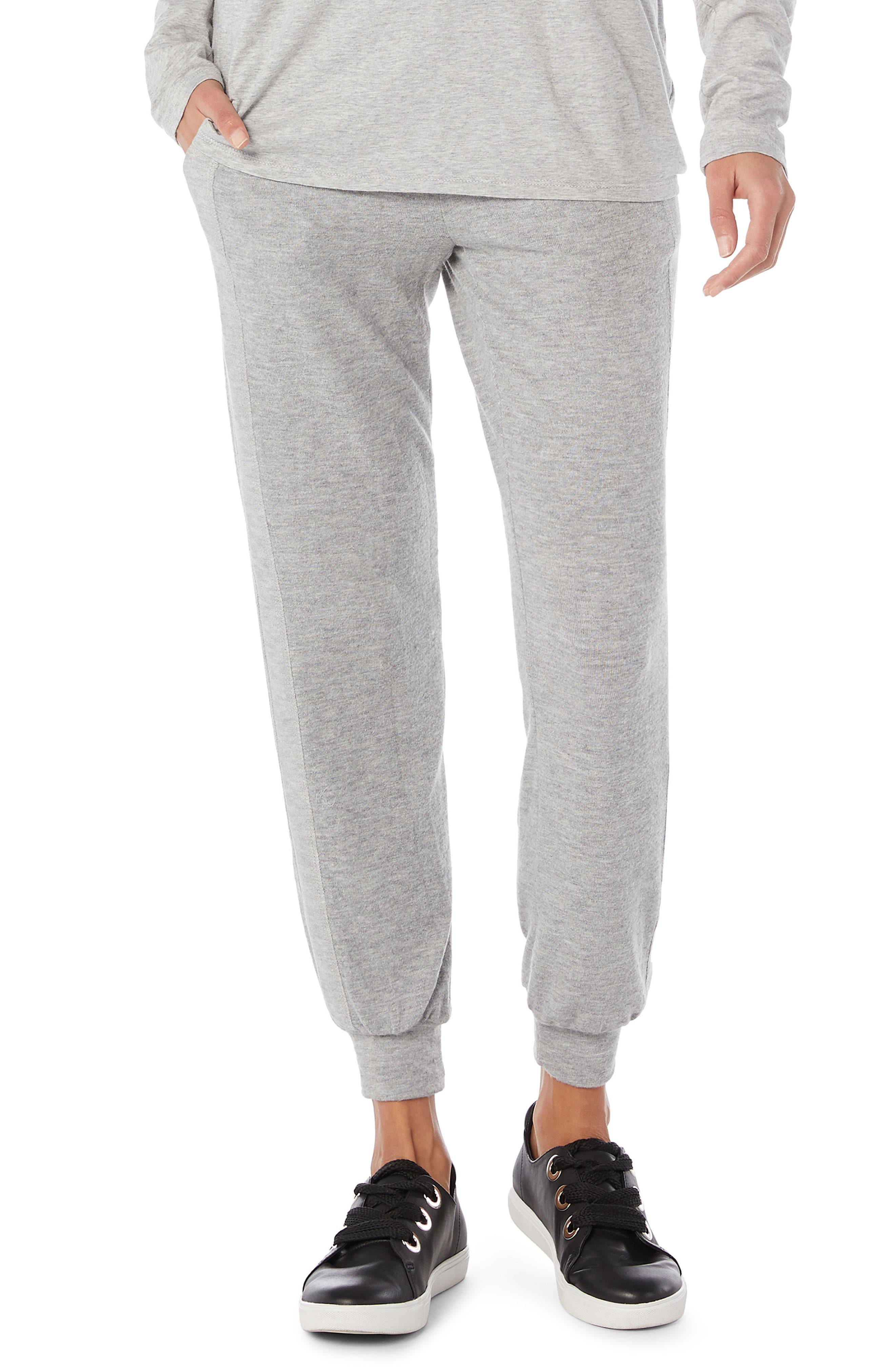 Drawstring Pull-on Pants,                         Main,                         color, HEATHER GREY