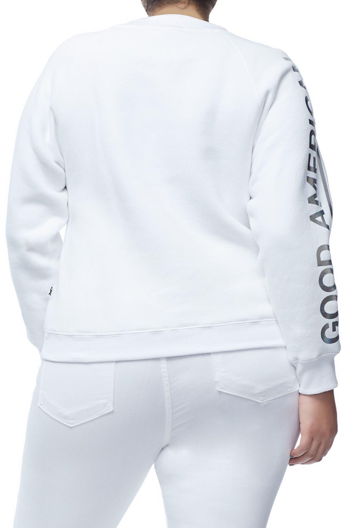 Crewneck Sweatshirt,                             Alternate thumbnail 4, color,                             WHITE