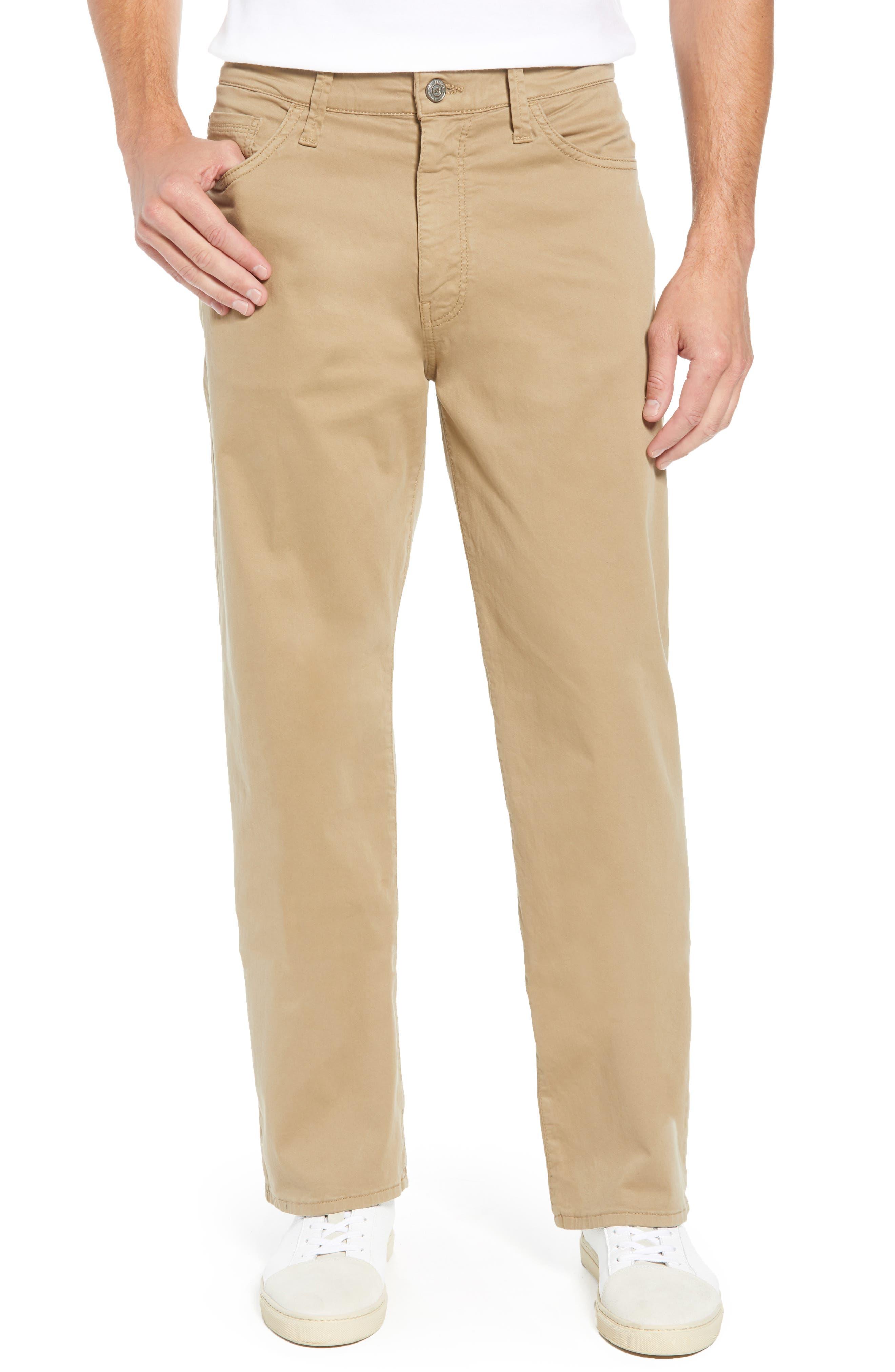 Mavi Max Relaxed Fit Twill Pants,                         Main,                         color, BRITISH KHAKI TWILL