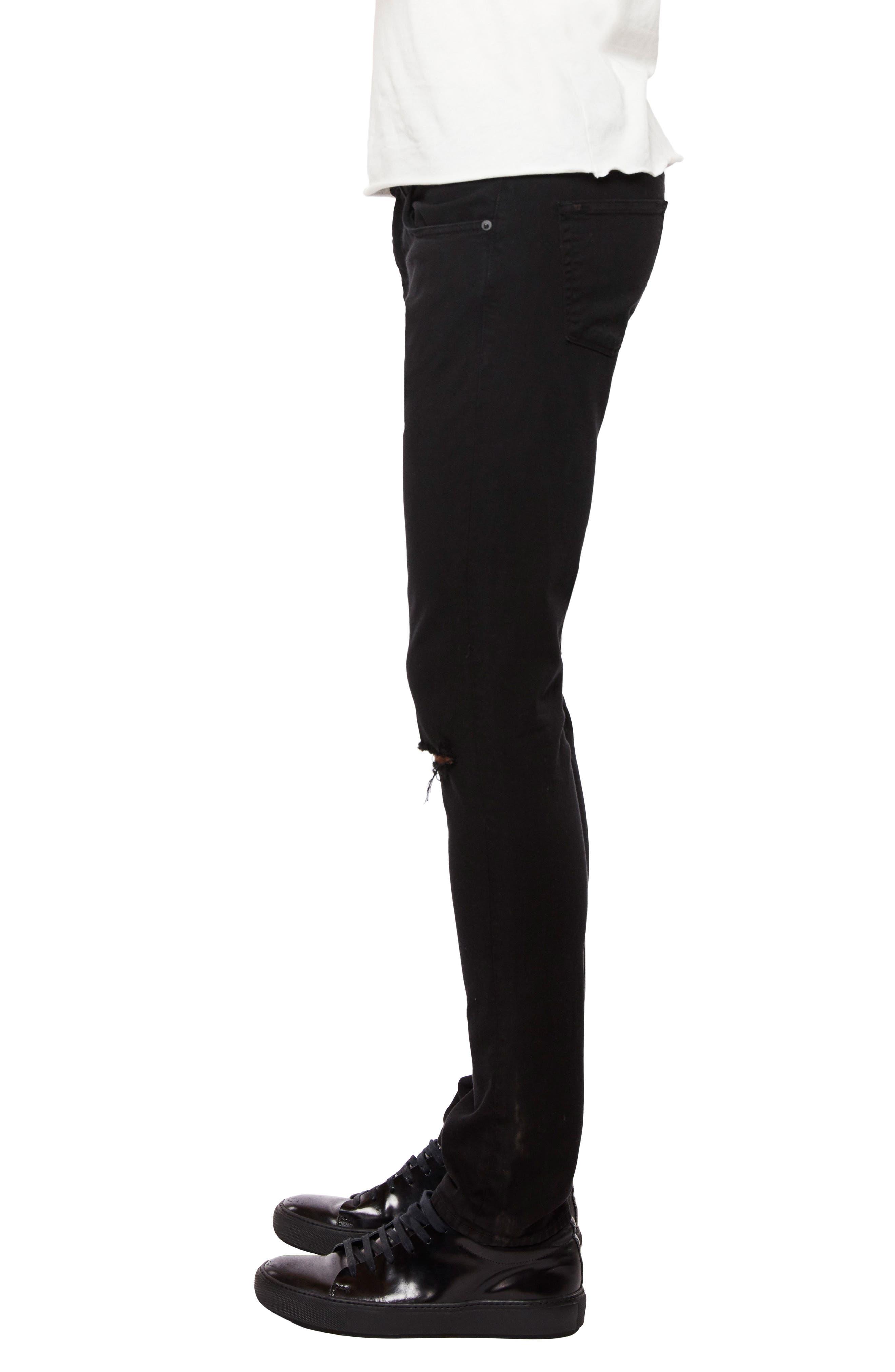 Mick Skinny Fit Jeans,                             Alternate thumbnail 3, color,                             LINCOLN OAK