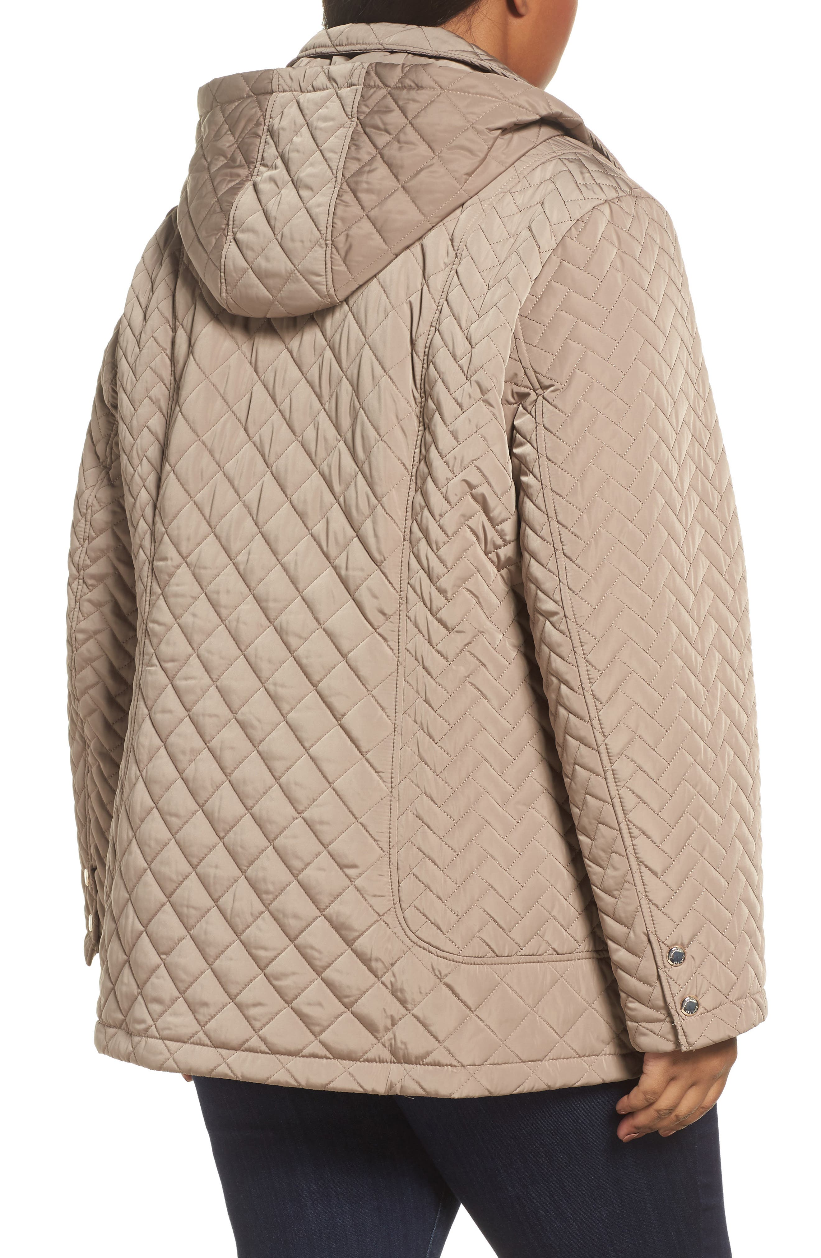 Water Resistant Diamond Quilted Jacket,                             Alternate thumbnail 2, color,                             021