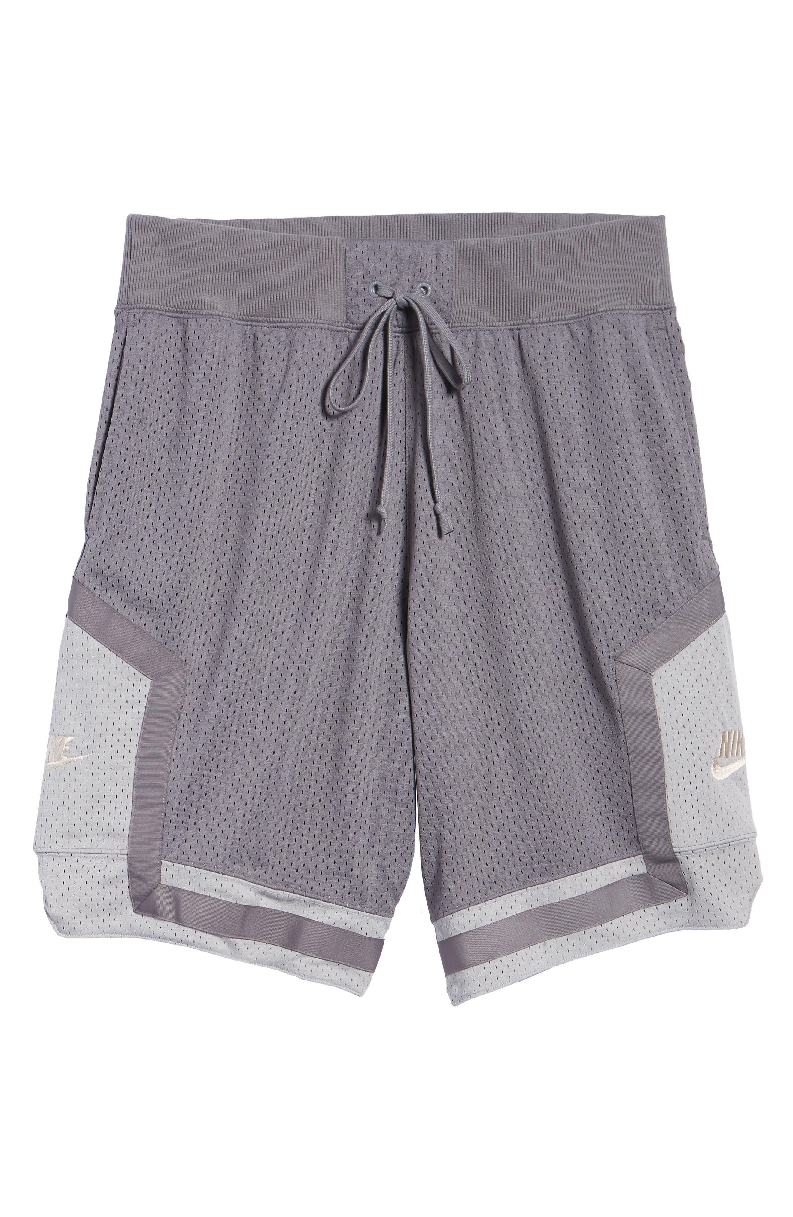 NSW AF1 Shorts,                             Alternate thumbnail 6, color,                             GUNSMOKE/ GREY/ OREWOOD