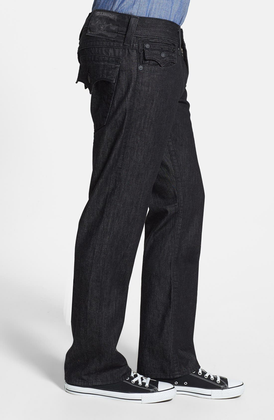 'Ricky' Relaxed Fit Jeans,                             Alternate thumbnail 3, color,                             001