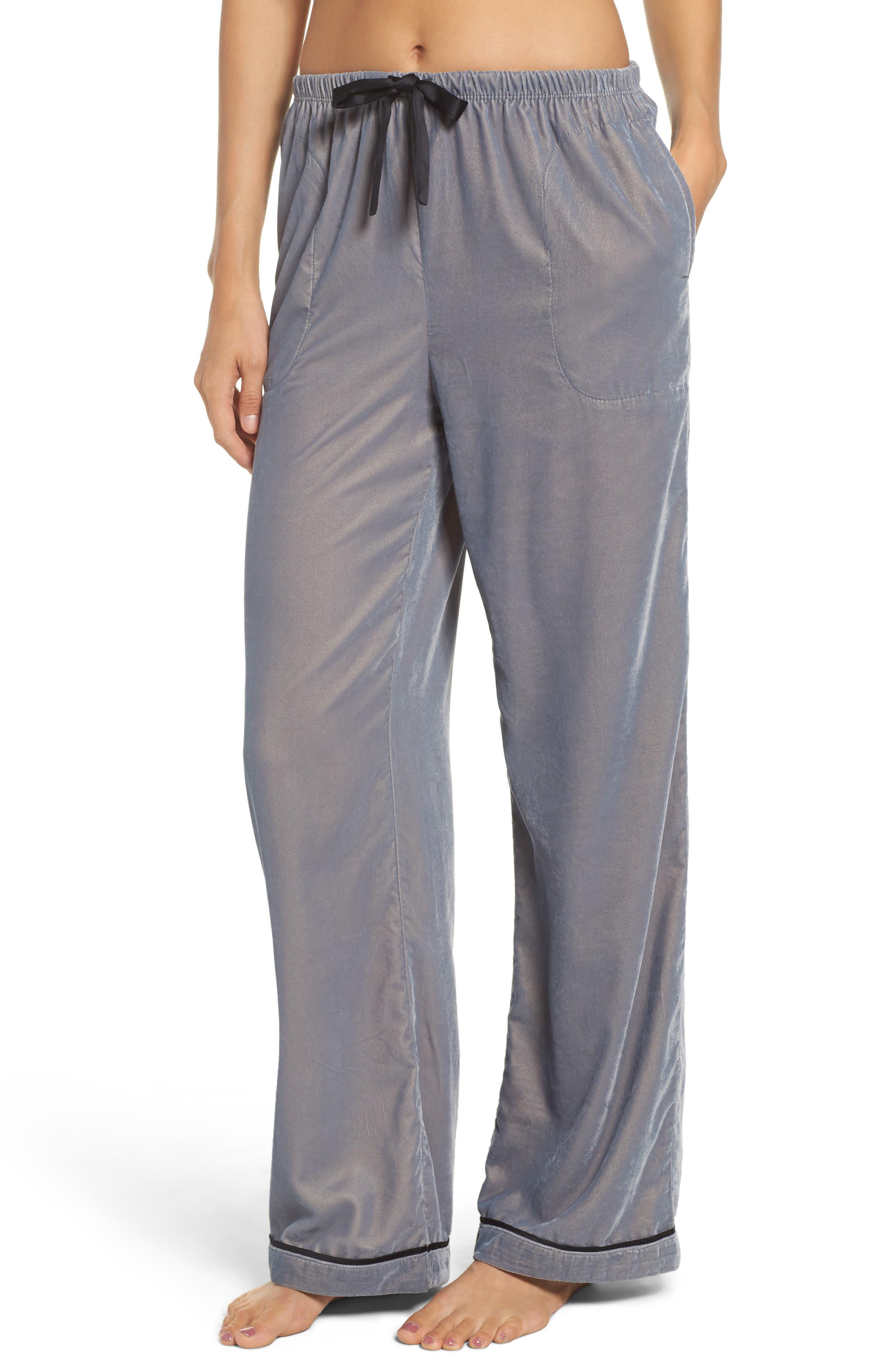 Velvet Pajama Pants,                             Main thumbnail 2, color,