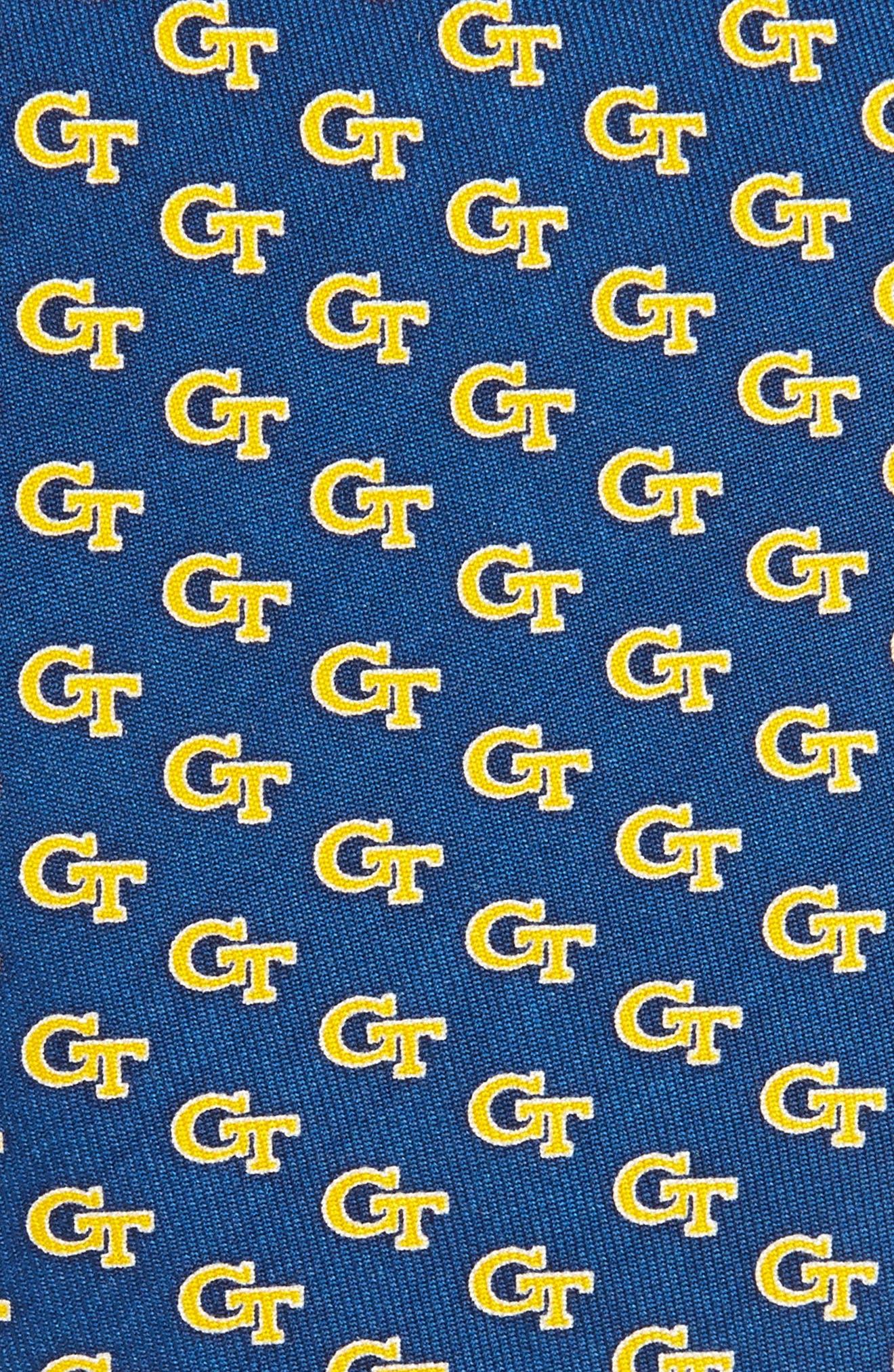 Georgia Tech Silk Tie,                             Alternate thumbnail 2, color,                             410