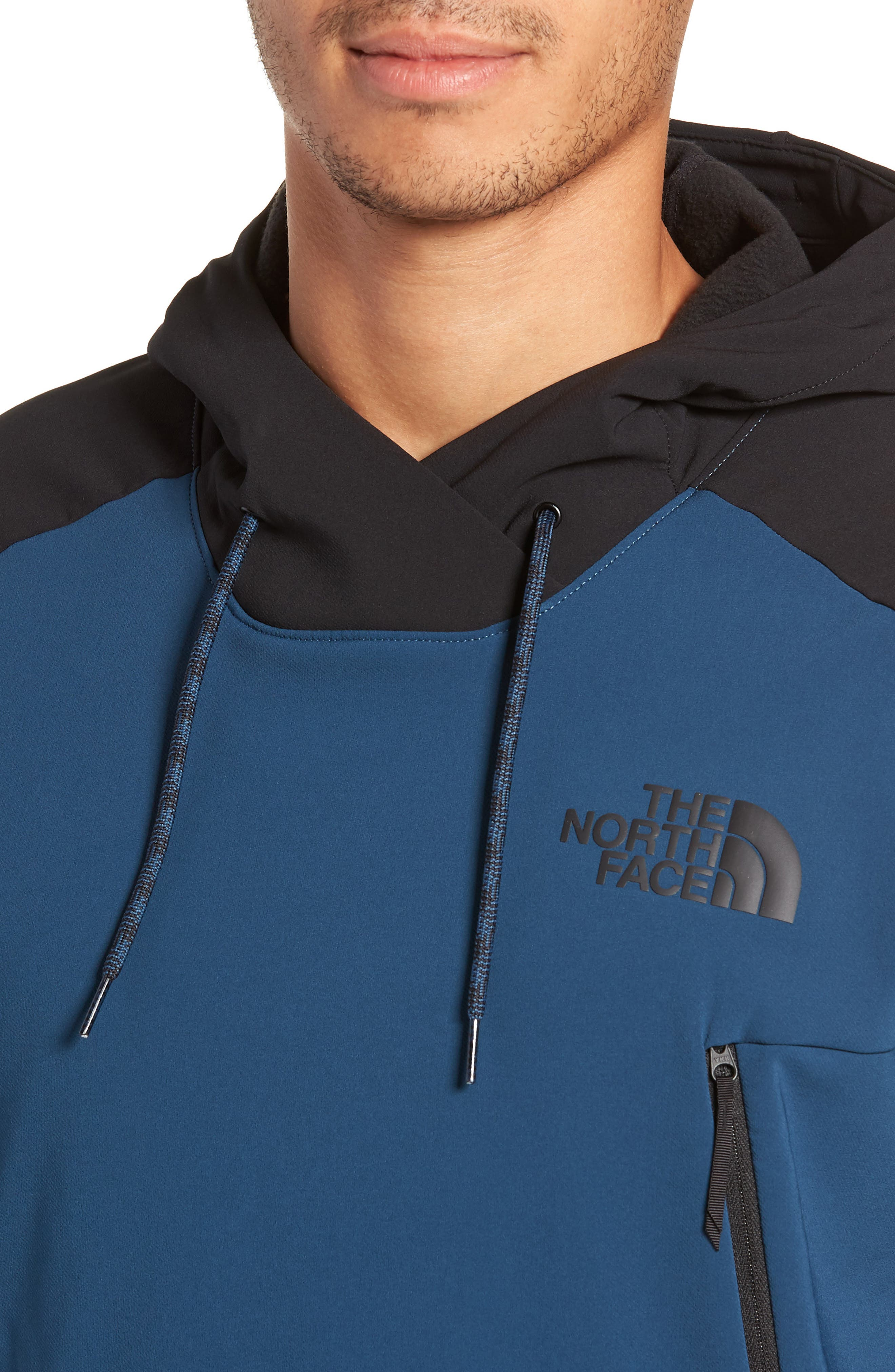 Tekno Pullover Hoodie,                             Alternate thumbnail 4, color,                             BLUE WING TEAL/ TNF BLACK