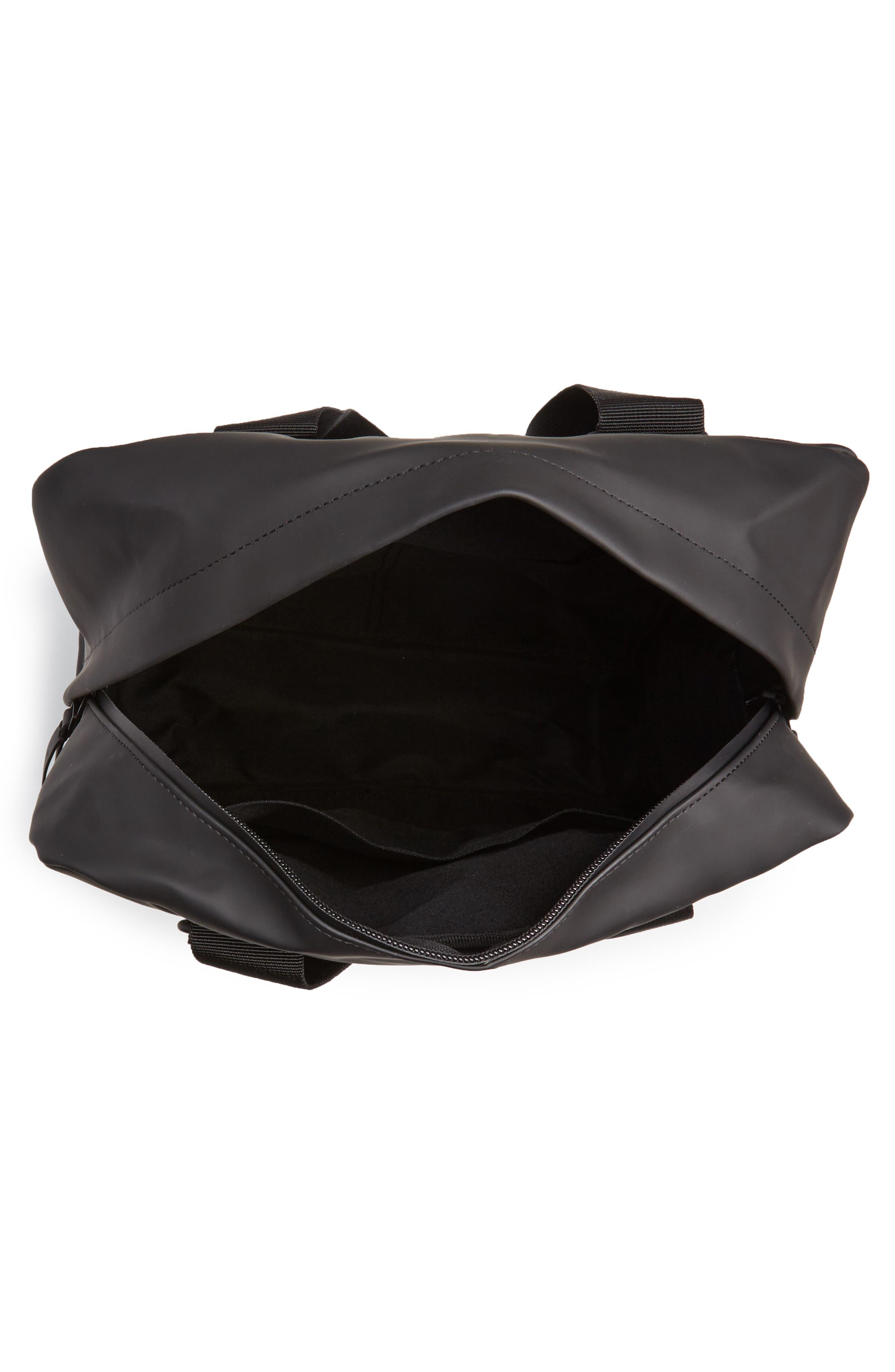 Waterproof Utility Tote Bag,                             Alternate thumbnail 4, color,                             BLACK