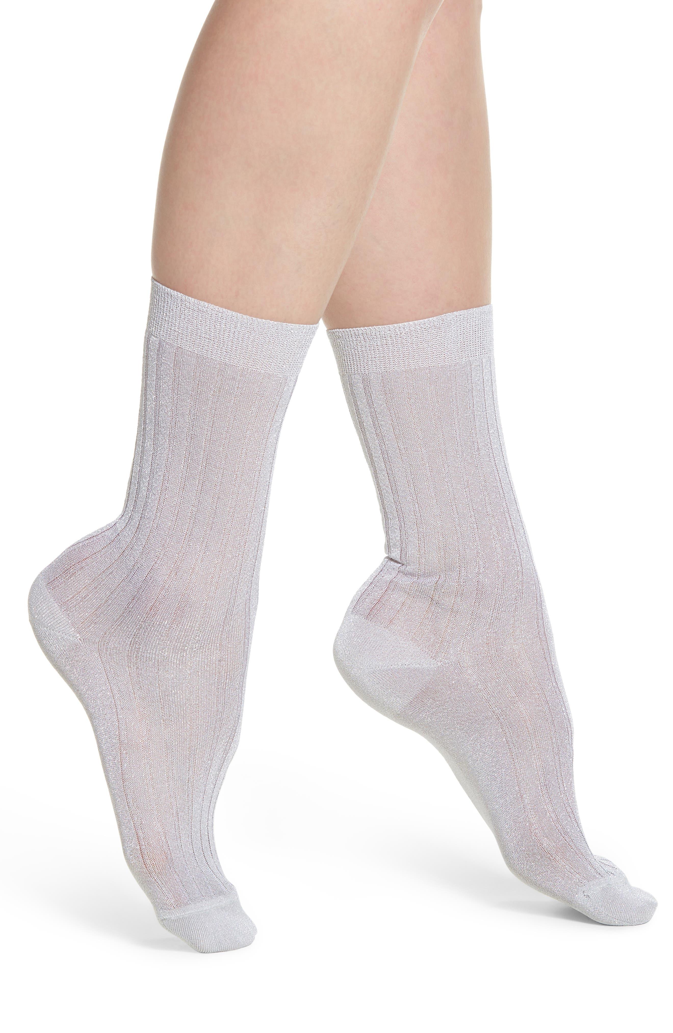 Costina Metallic Ankle Socks,                             Main thumbnail 1, color,                             040