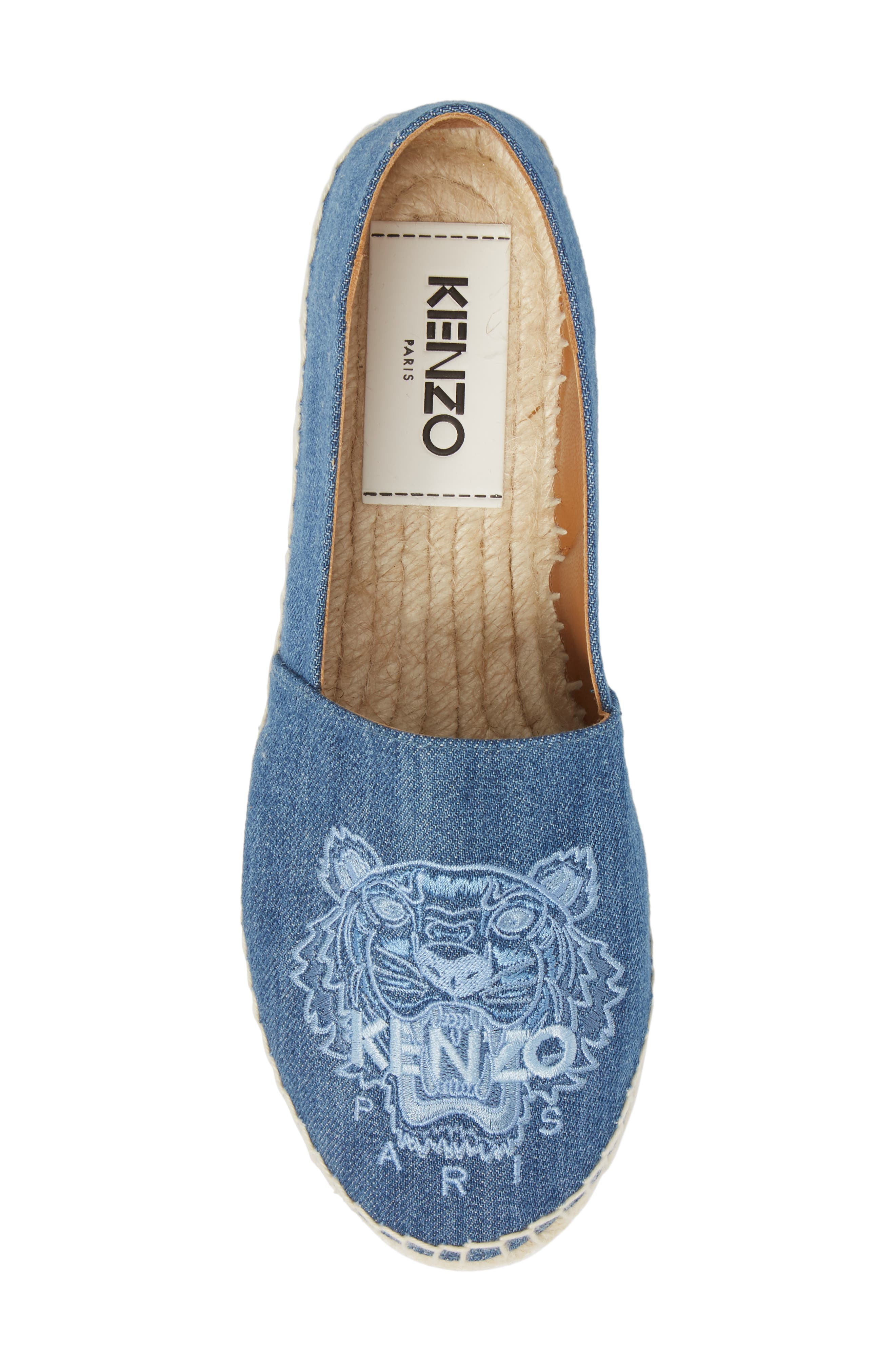 Tiger Embroidered Espadrille,                             Alternate thumbnail 5, color,                             452
