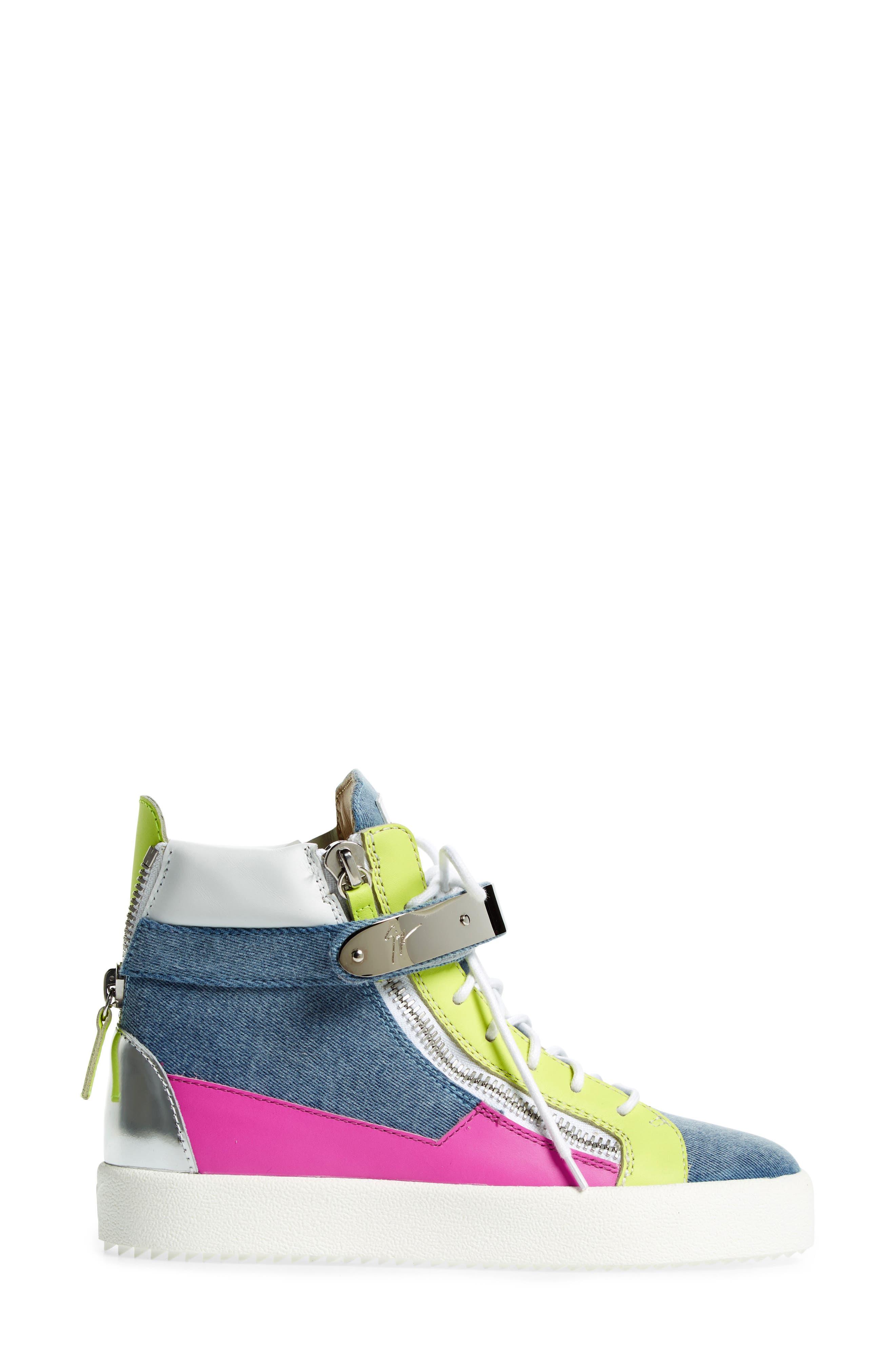 May London High Top Sneaker,                             Alternate thumbnail 3, color,                             400