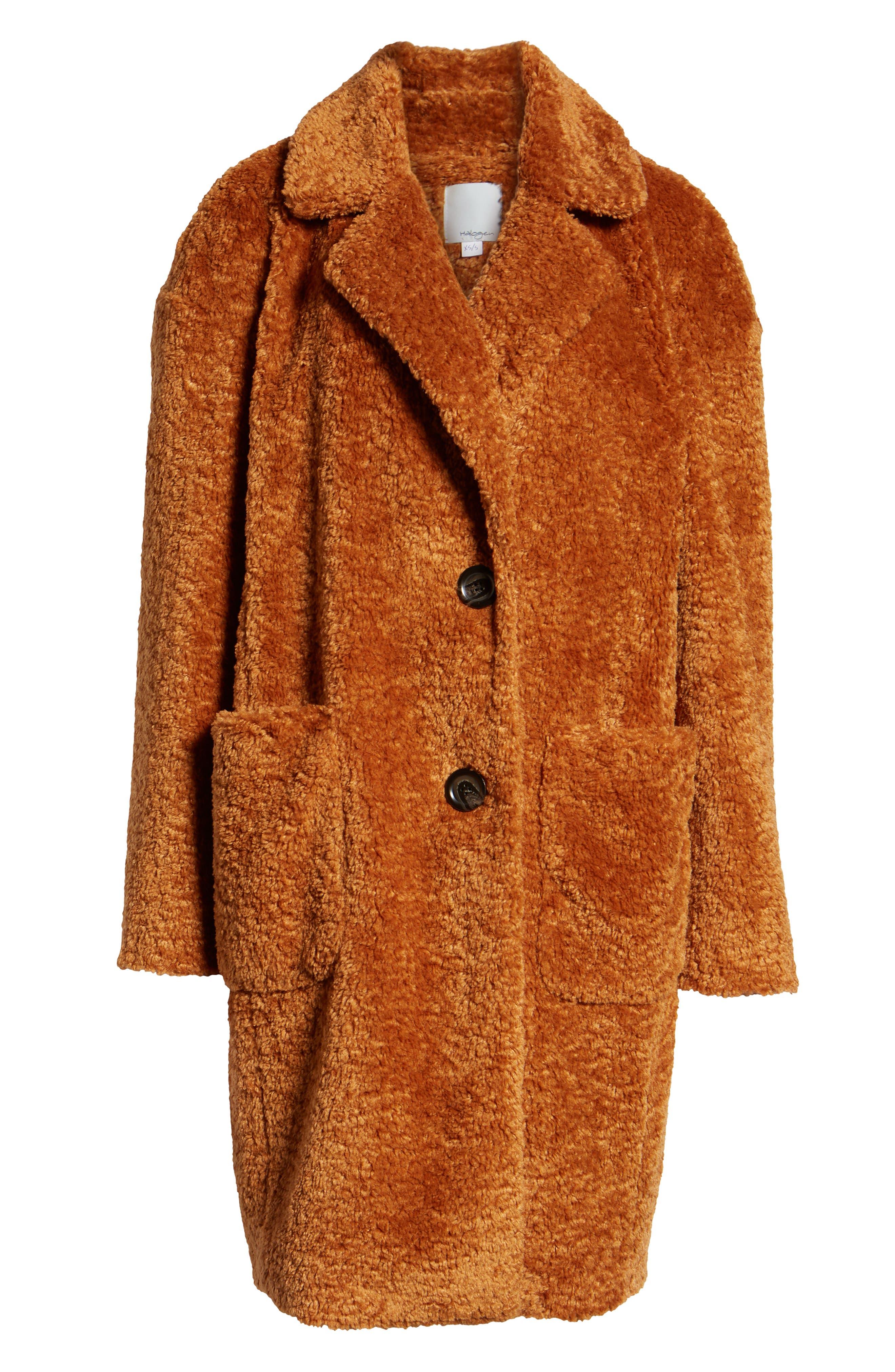 x Atlantic-Pacific Faux Fur Coat,                             Alternate thumbnail 6, color,                             RUST GINGER