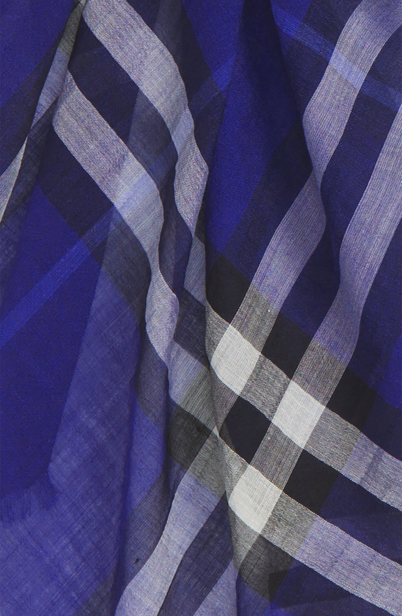 Giant Check Print Wool & Silk Scarf,                             Alternate thumbnail 135, color,