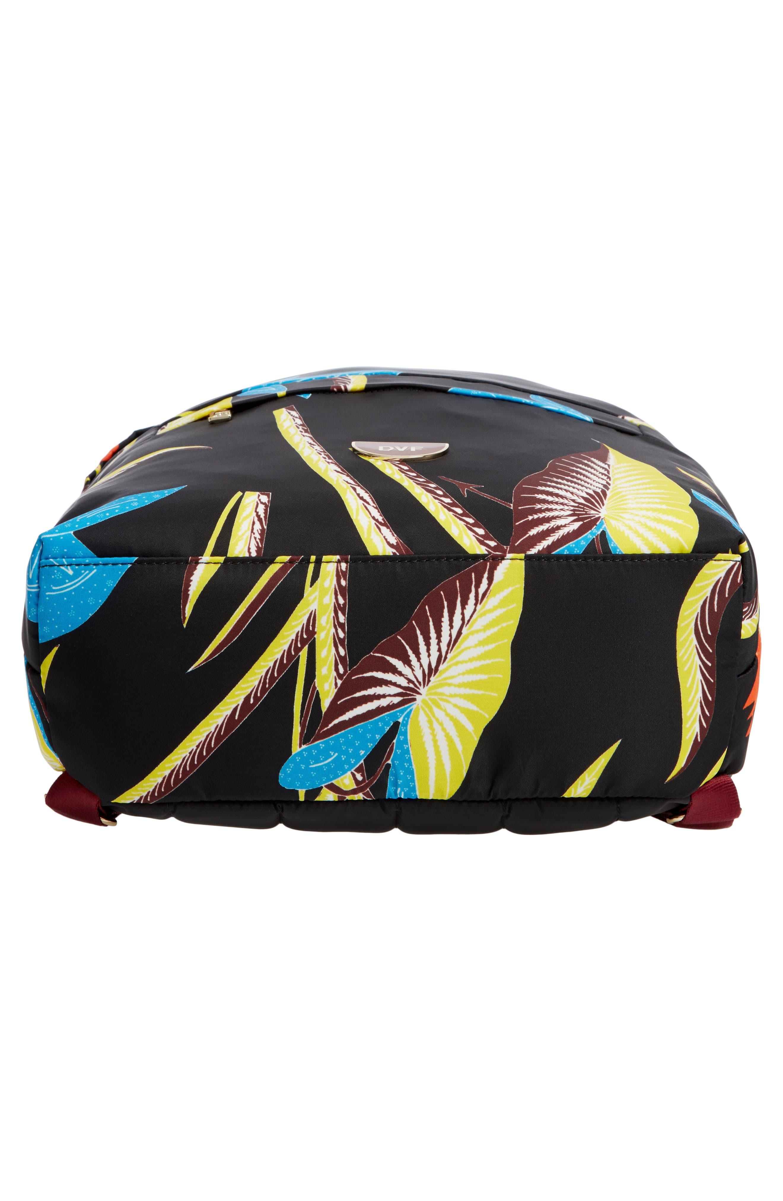 DVF Print Nylon Backpack,                             Alternate thumbnail 6, color,                             002