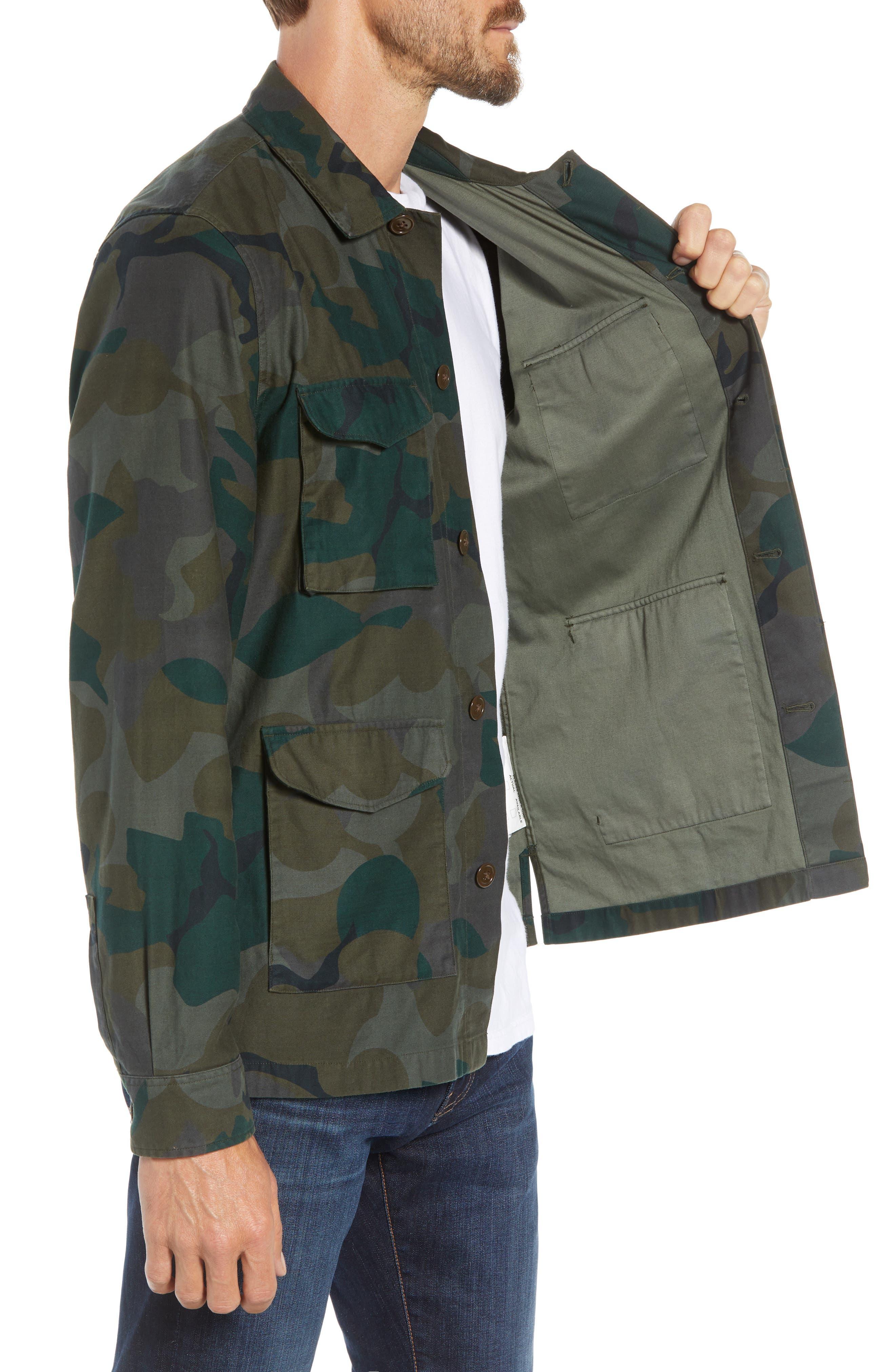 Four-Pocket Military Jacket,                             Alternate thumbnail 3, color,                             301
