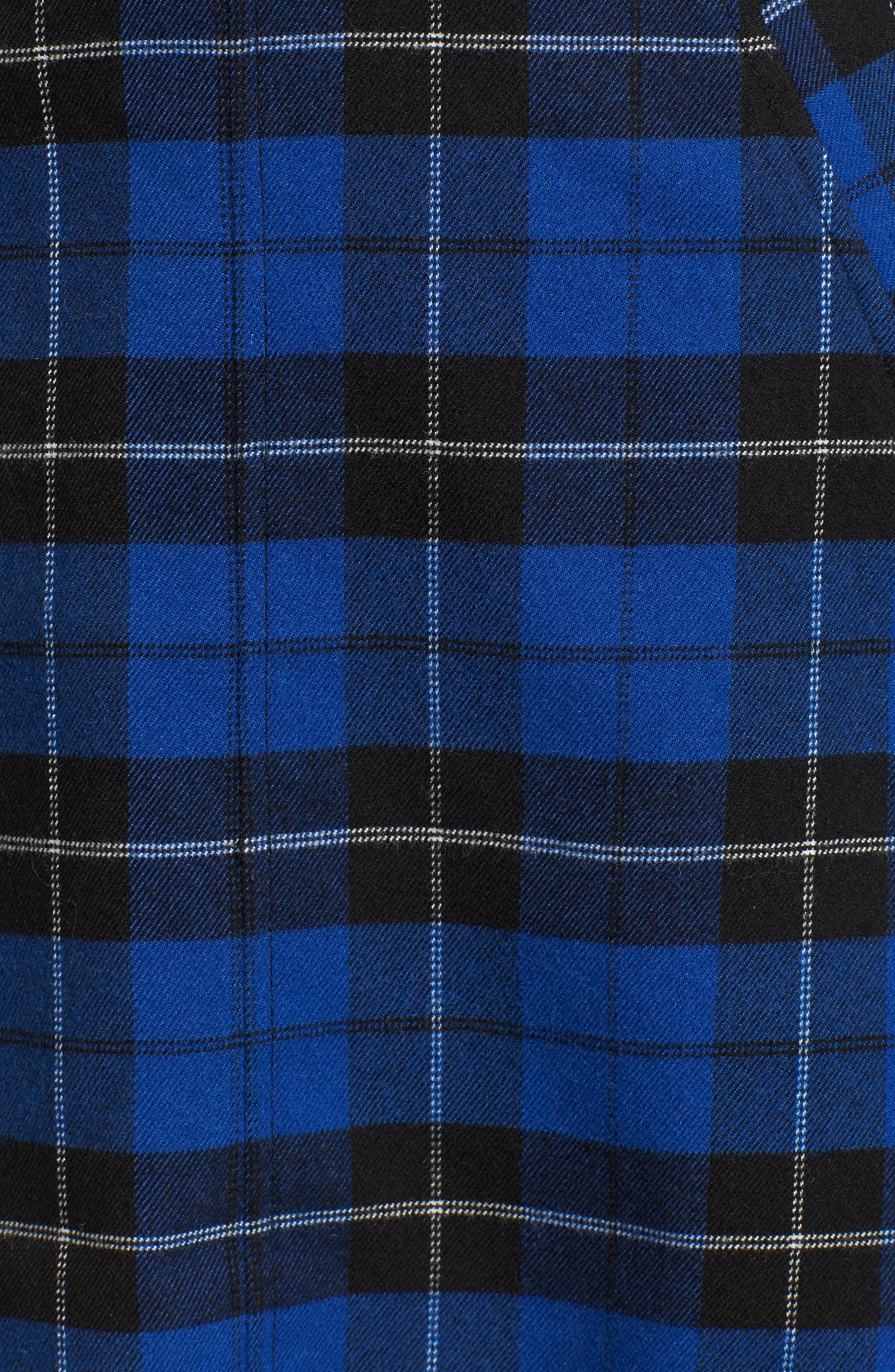 Belted Plaid Skirt,                             Alternate thumbnail 5, color,                             BLUE MAZARINE HAYDEN PLAID
