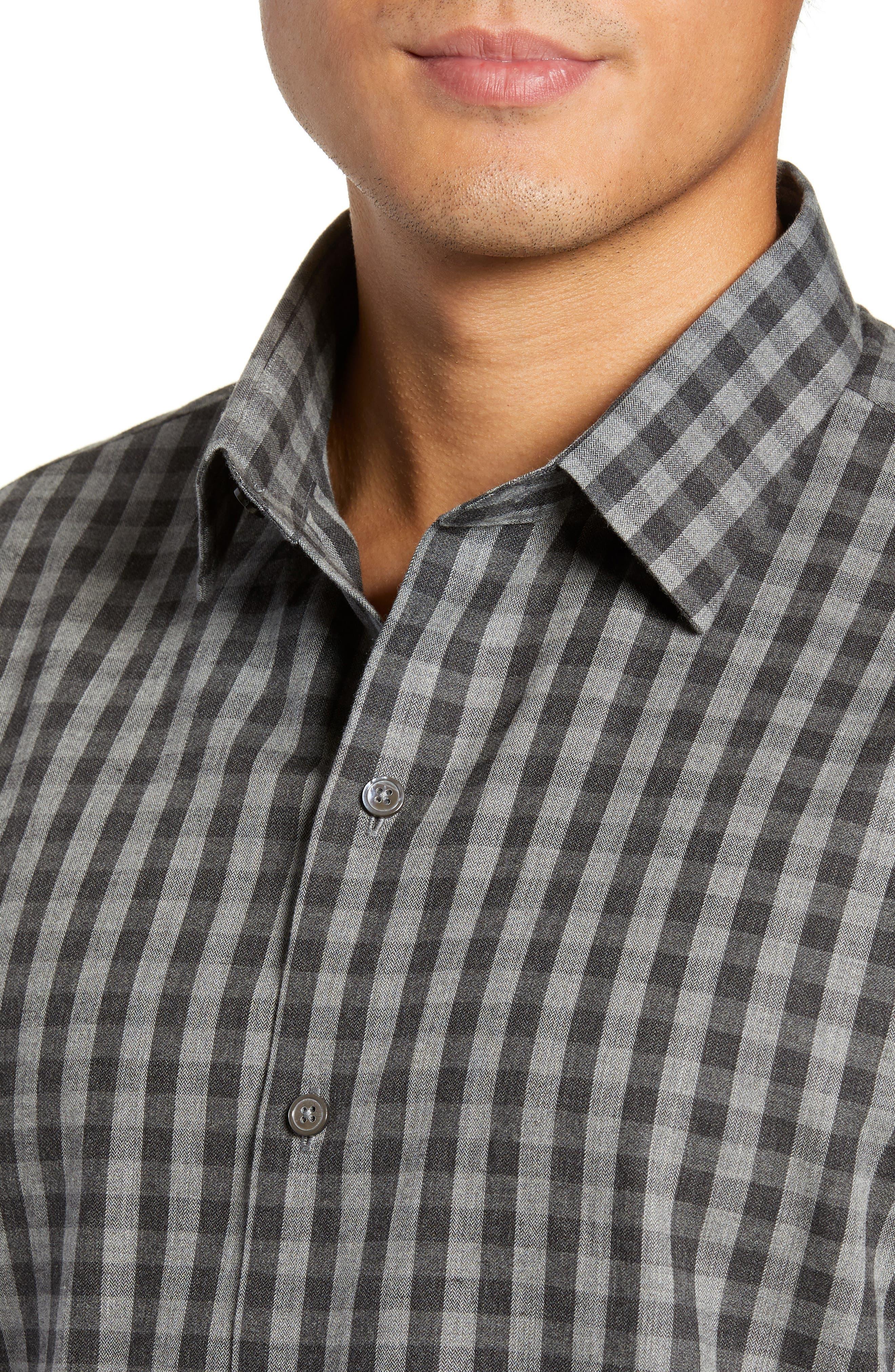 Lieberman Regular Fit Check Sport Shirt,                             Alternate thumbnail 2, color,                             CHARCOAL