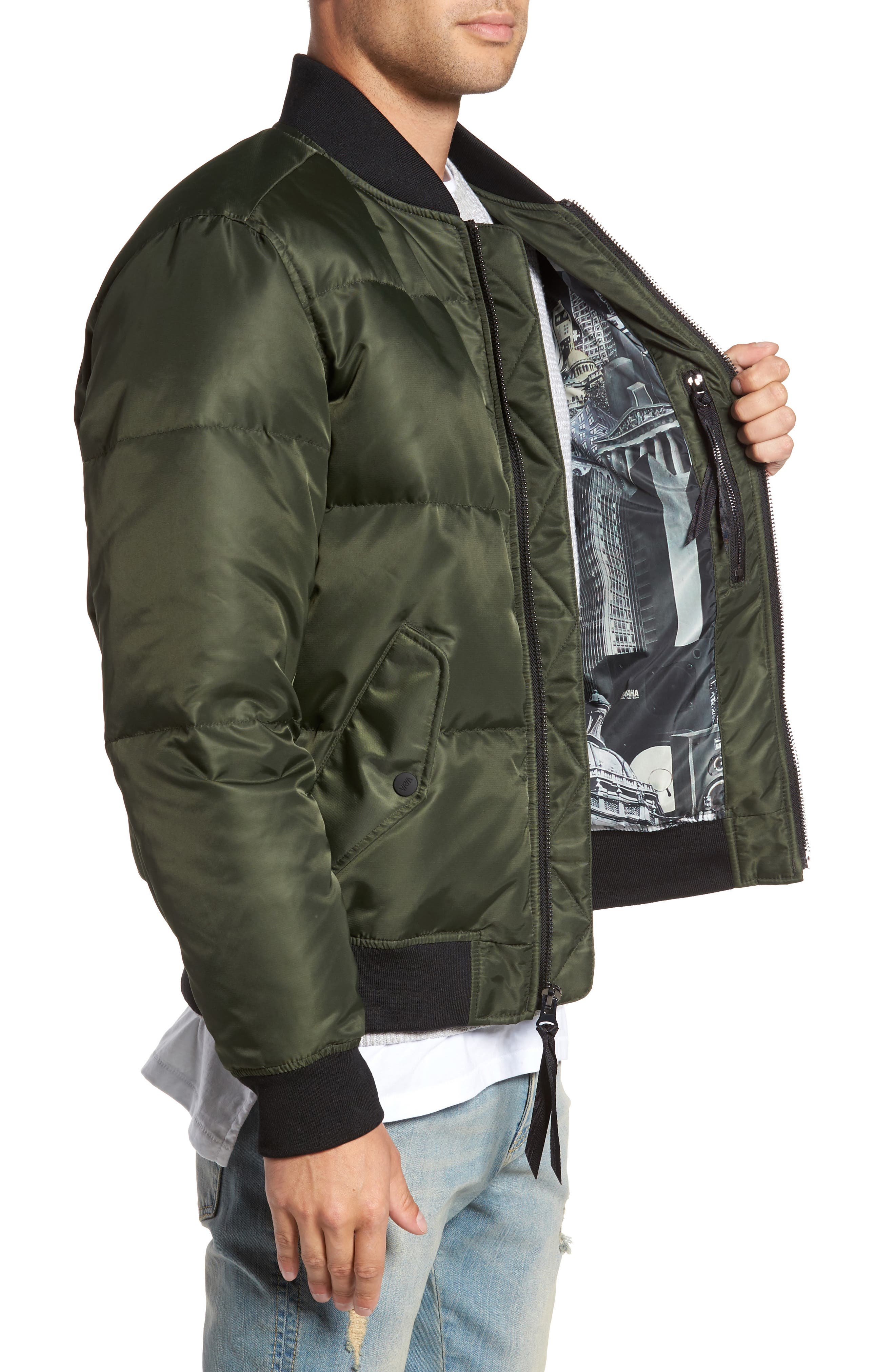 Quilted Down Bomber Jacket,                             Alternate thumbnail 10, color,