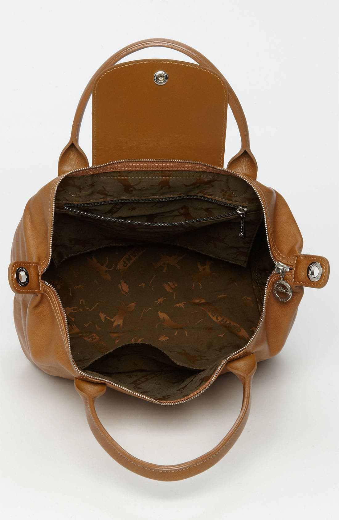 Small 'Le Pliage Cuir' Leather Top Handle Tote,                             Alternate thumbnail 60, color,