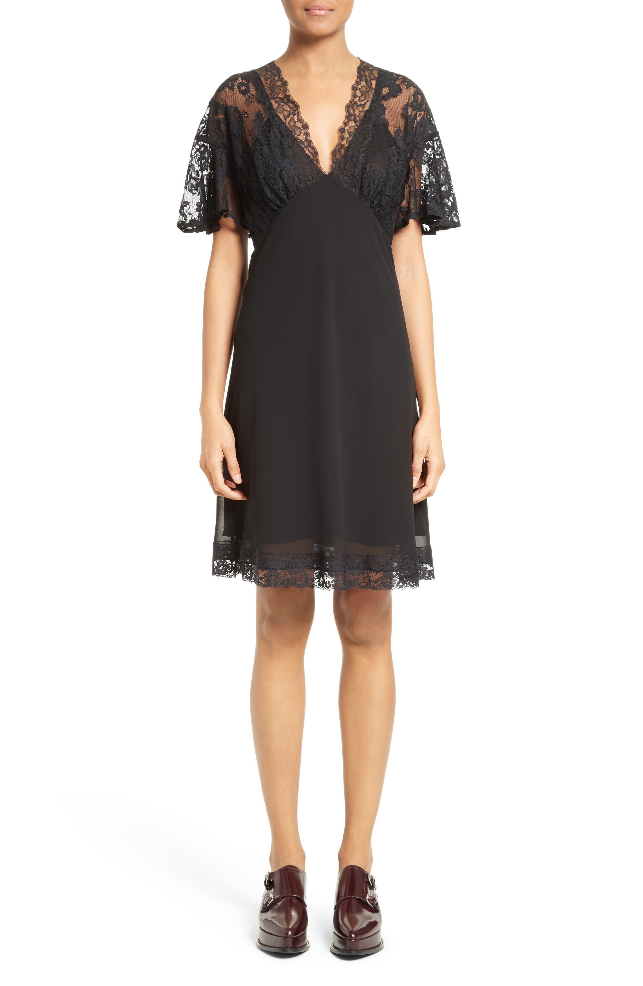 Volant Lace Dress,                             Main thumbnail 1, color,                             003