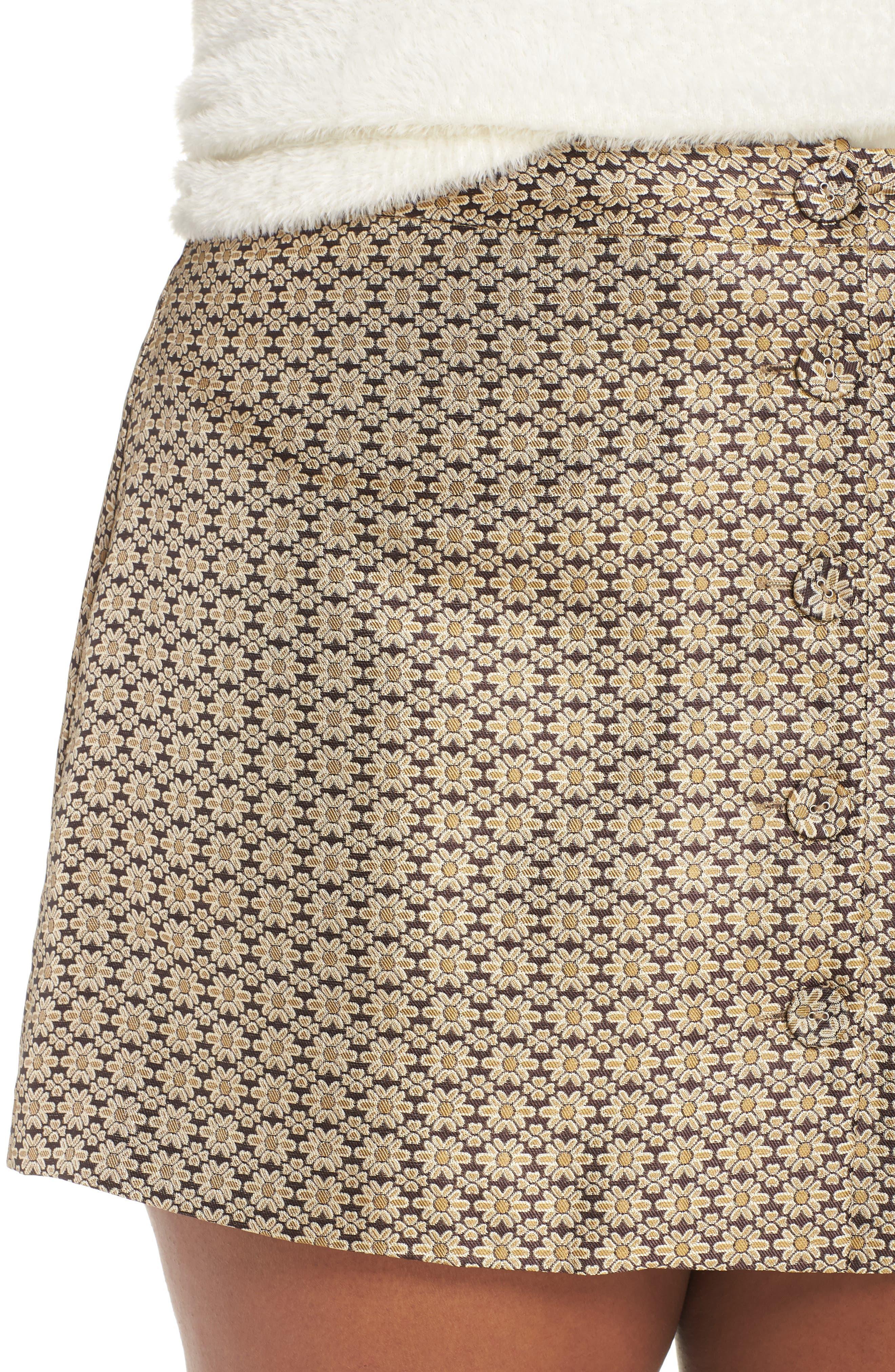 Pelham Button Front Miniskirt,                             Alternate thumbnail 10, color,                             710