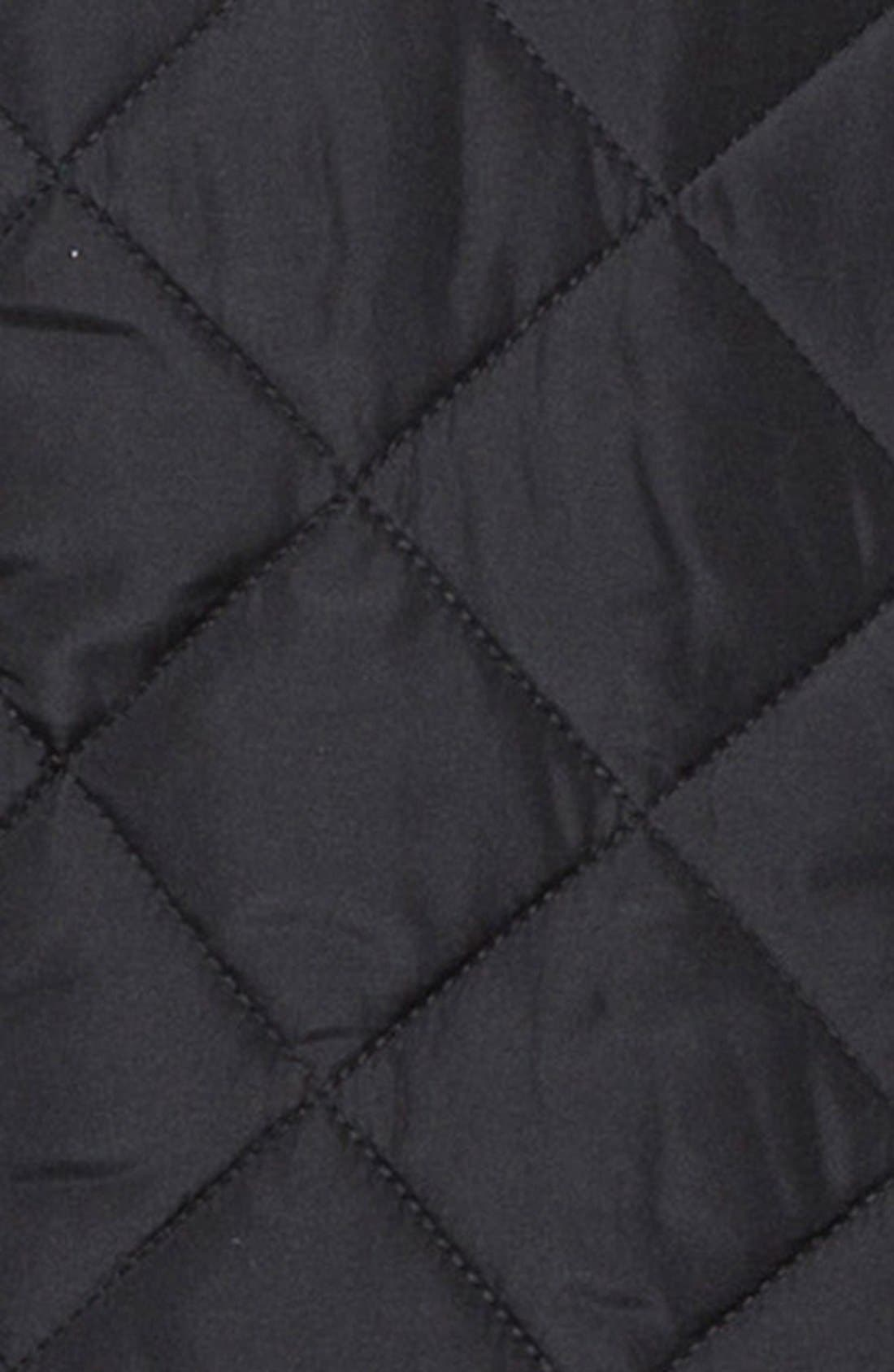 'Gatti' Quilted Panel Lambswool Knit Jacket,                             Alternate thumbnail 4, color,                             001