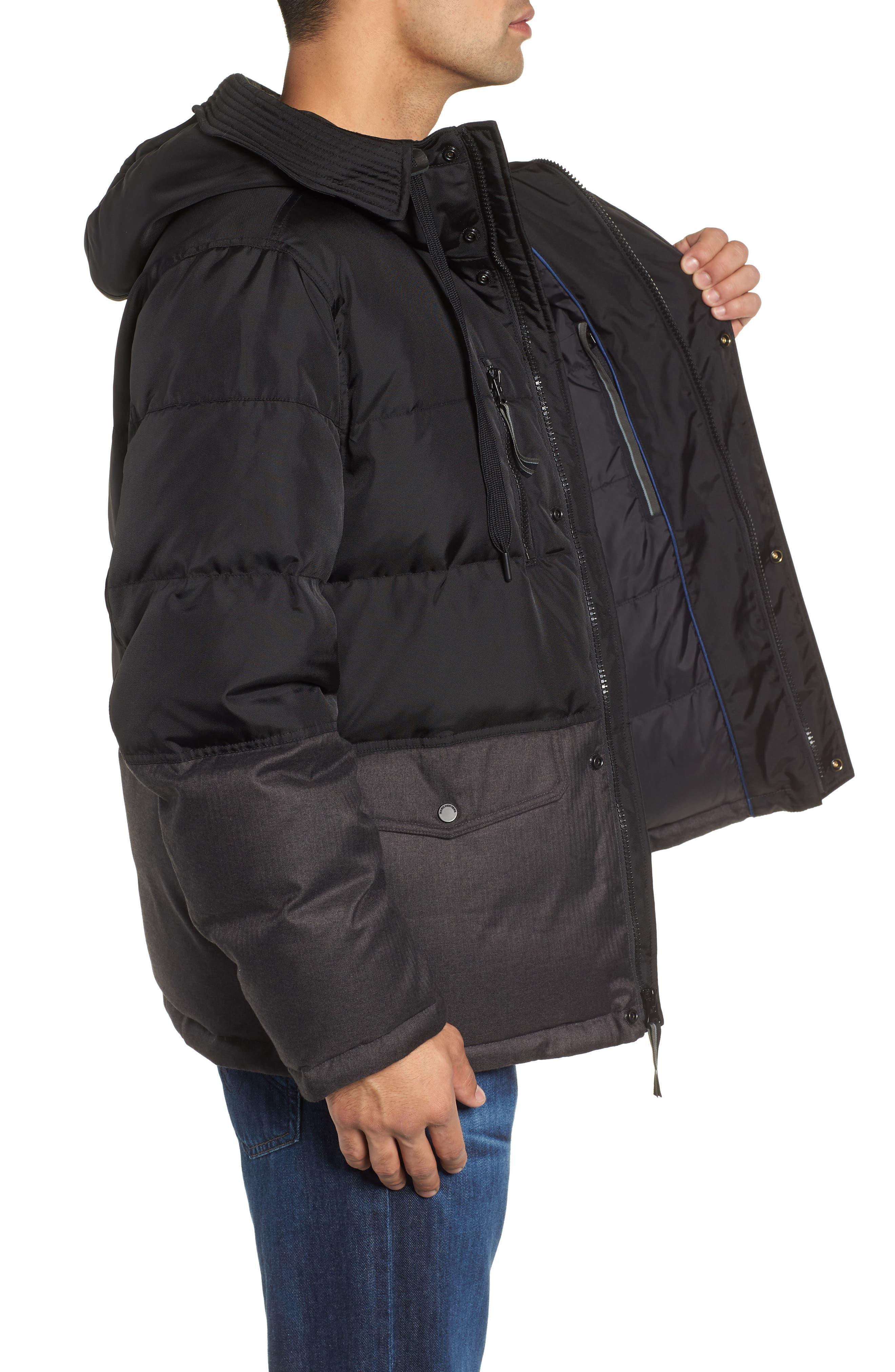 MARC NEW YORK,                             Stanton Oxford Puffer Jacket,                             Alternate thumbnail 4, color,                             BLACK