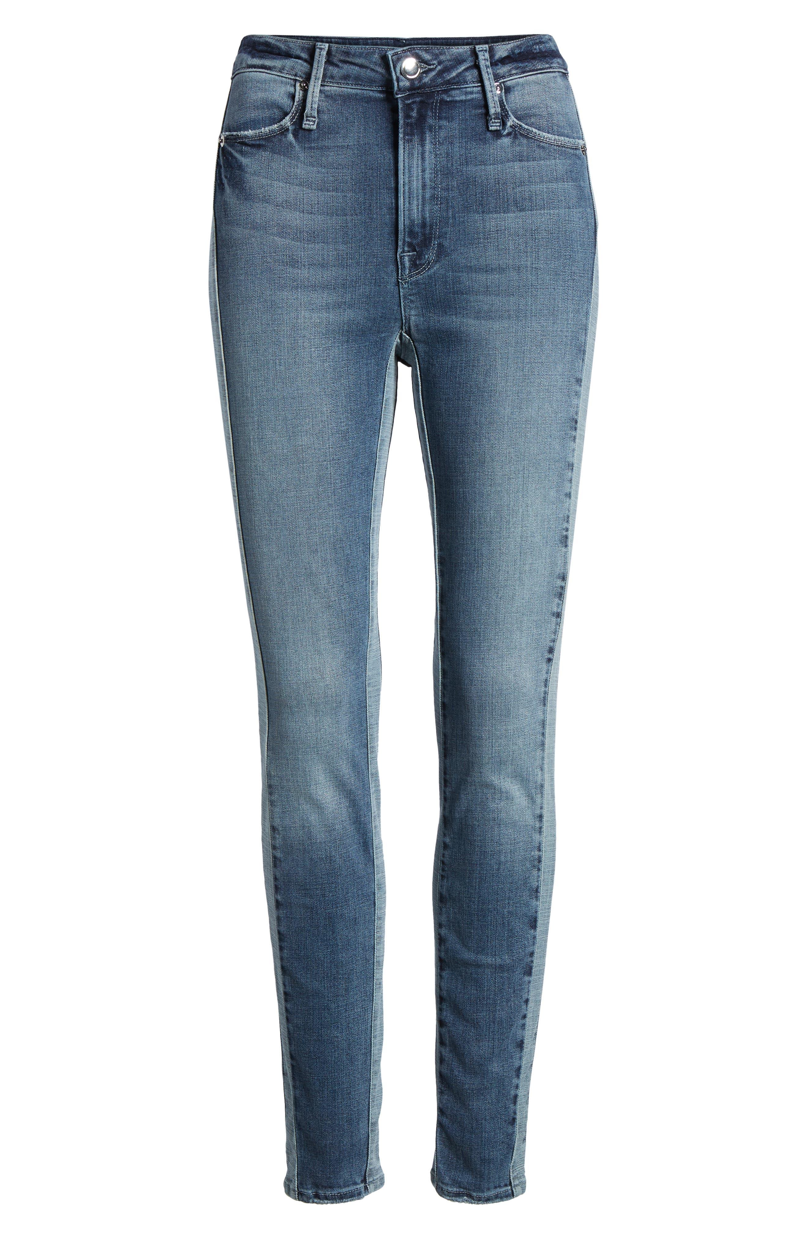 Good Waist Piecing High Waist Skinny Jeans,                             Alternate thumbnail 7, color,                             401