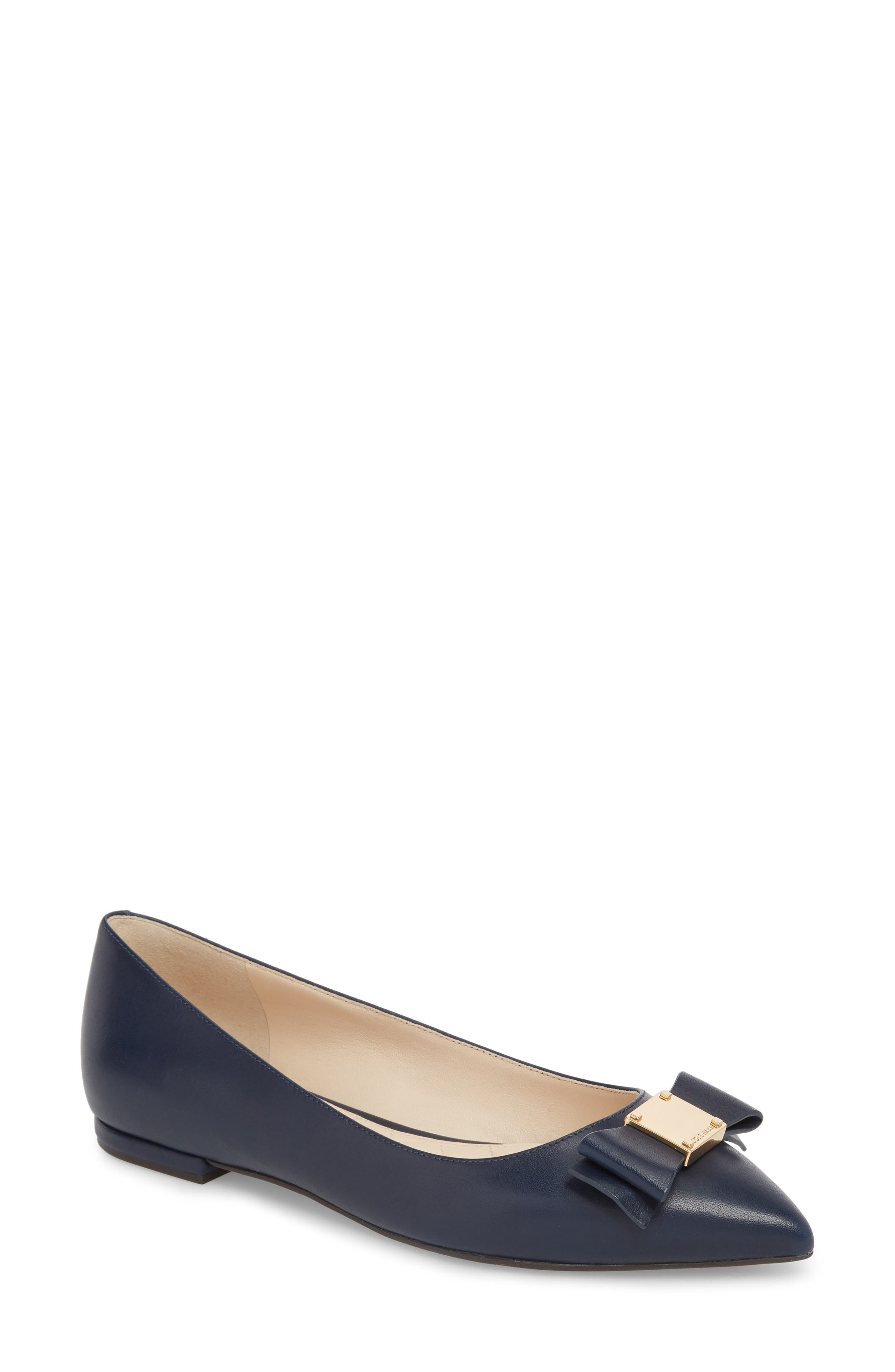 COLE HAAN,                             Tali Bow Skimmer Flat,                             Main thumbnail 1, color,                             400