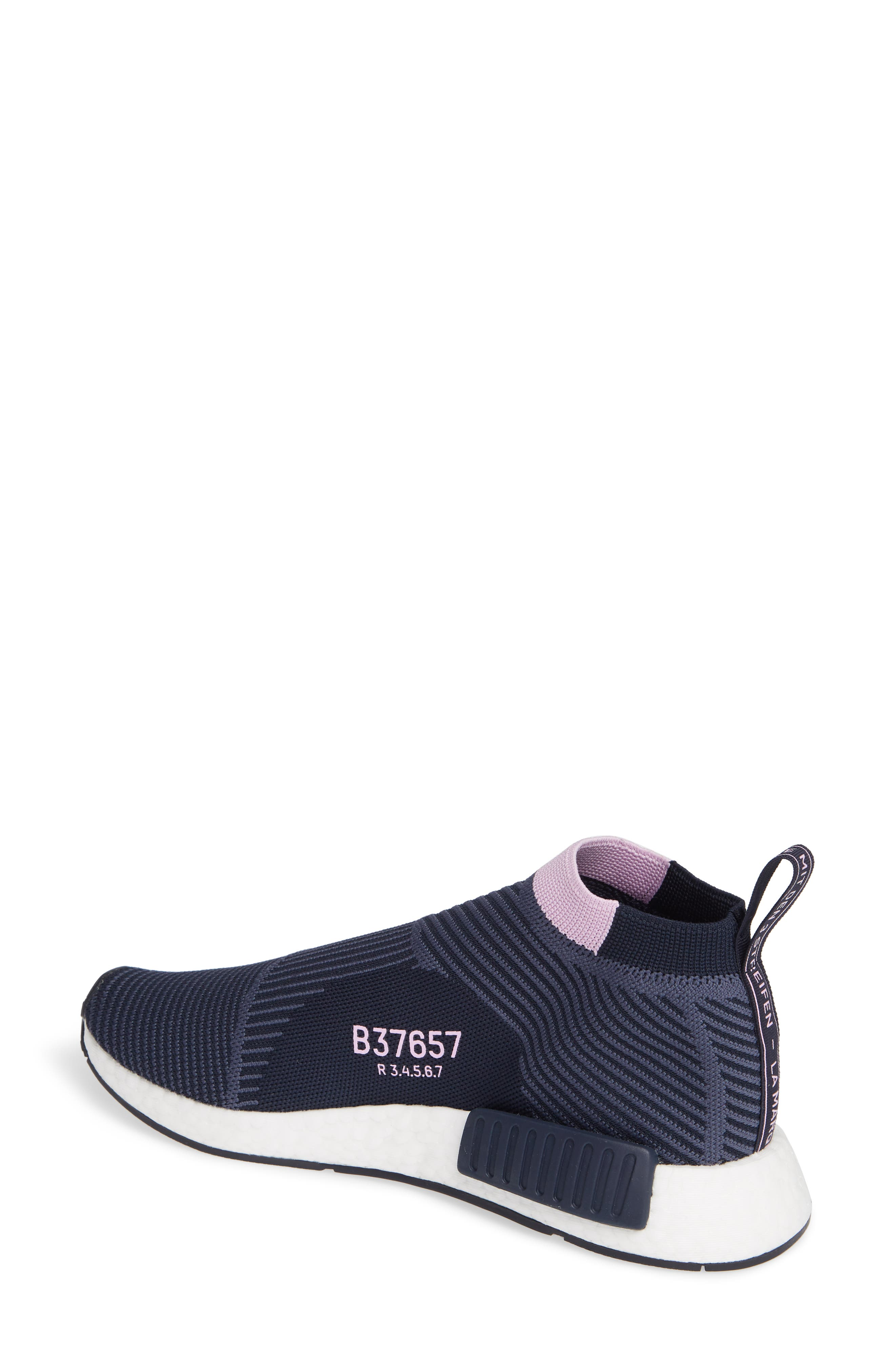 NMD_CS1 Primeknit Sneaker,                             Alternate thumbnail 2, color,                             LEGEND INK/ CLEAR LILAC