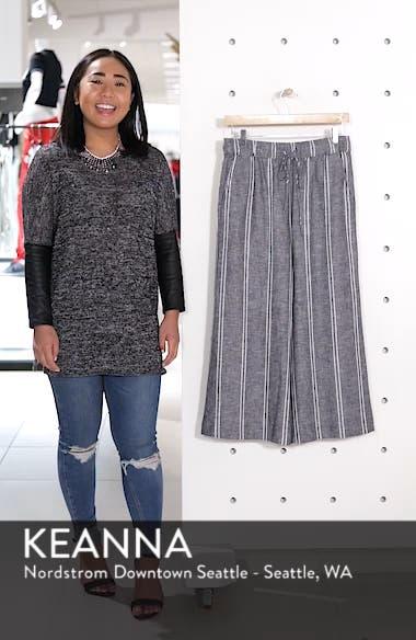 Stripe Linen Blend Culottes, sales video thumbnail