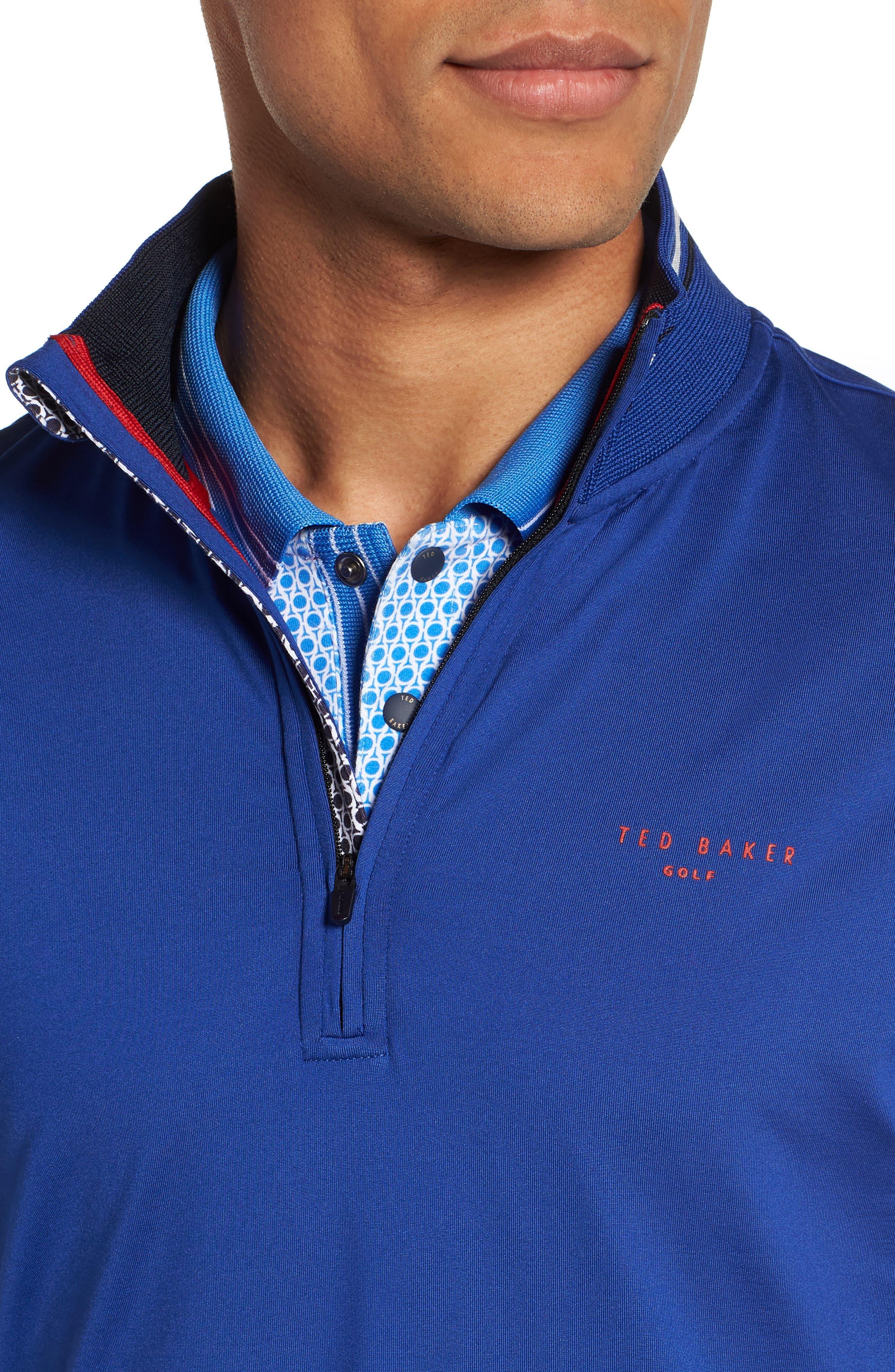 Gala Trim Golf Quarter-Zip Vest,                             Alternate thumbnail 4, color,                             430