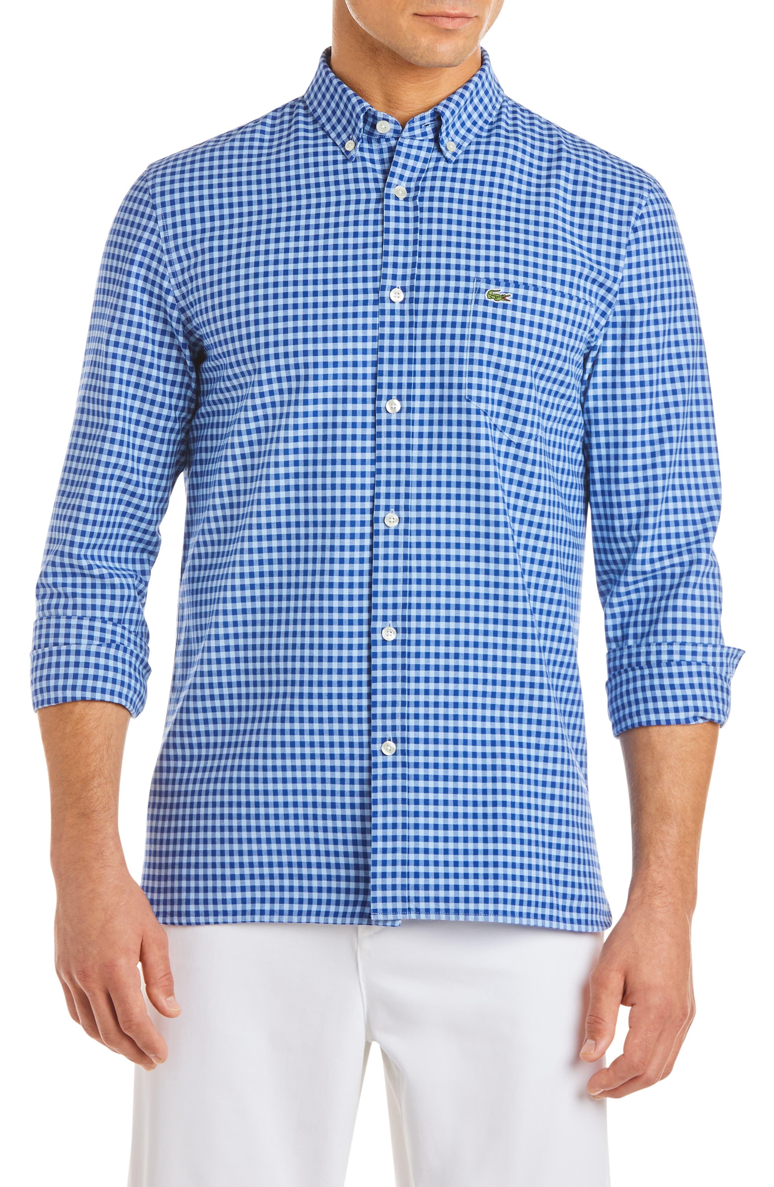 Slim Fit Gingham Sport Shirt, Main, color, 410