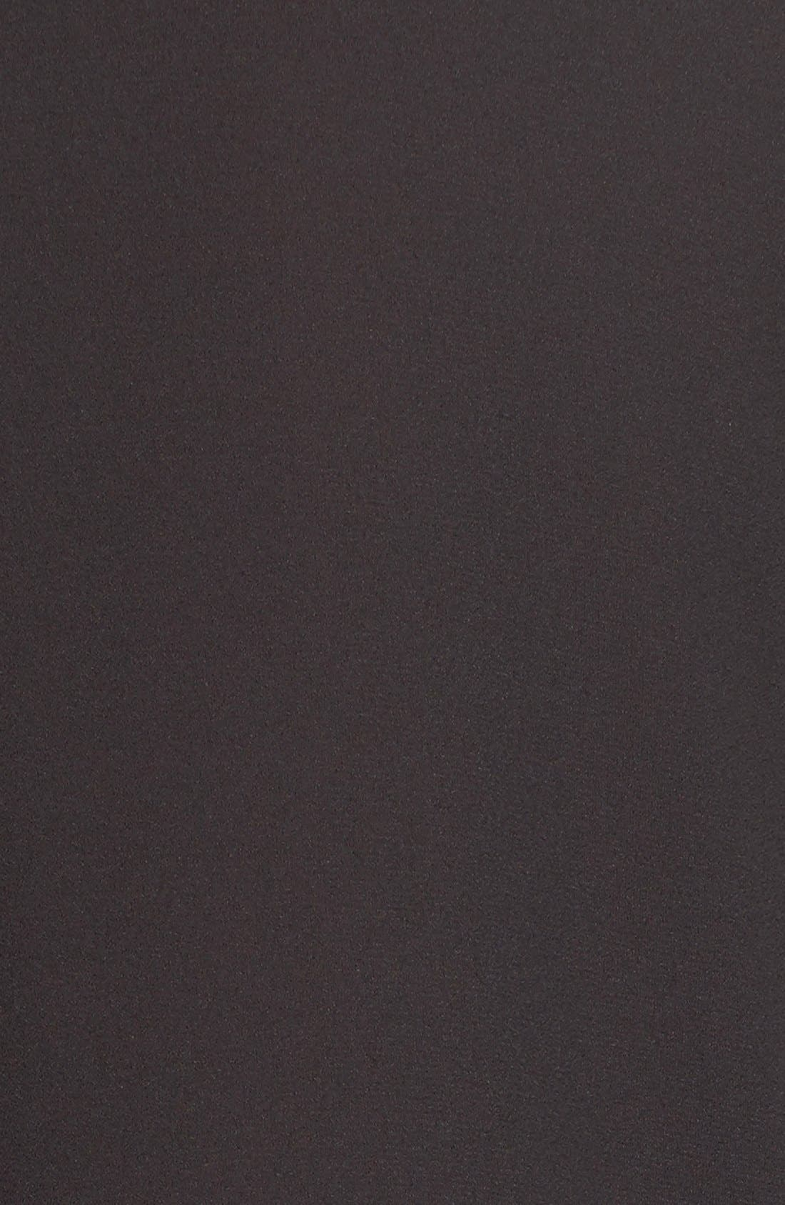 V-Neck Crepe Blouse,                             Alternate thumbnail 3, color,                             001