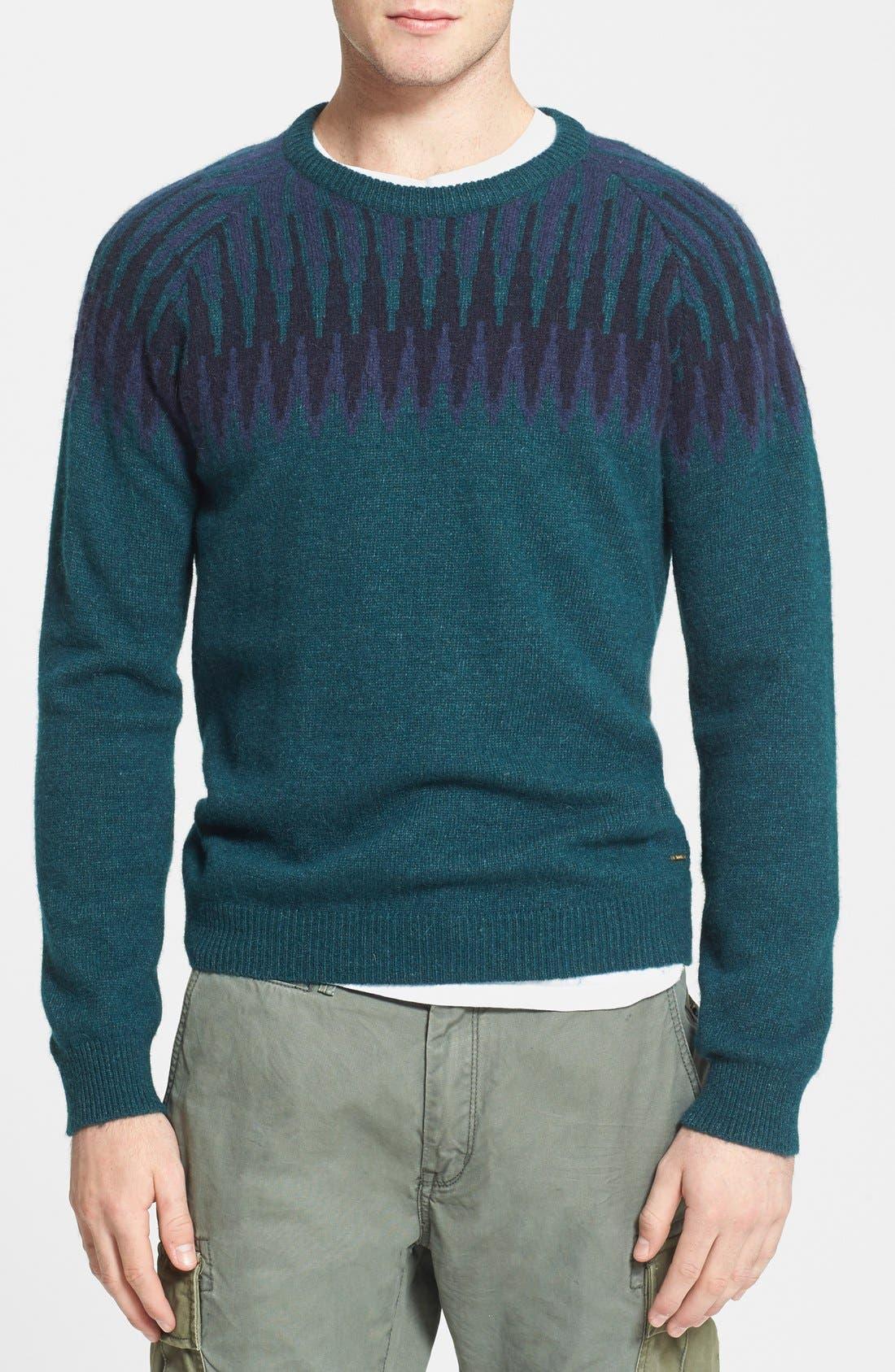 Fair Isle Crewneck Sweater, Main, color, 400