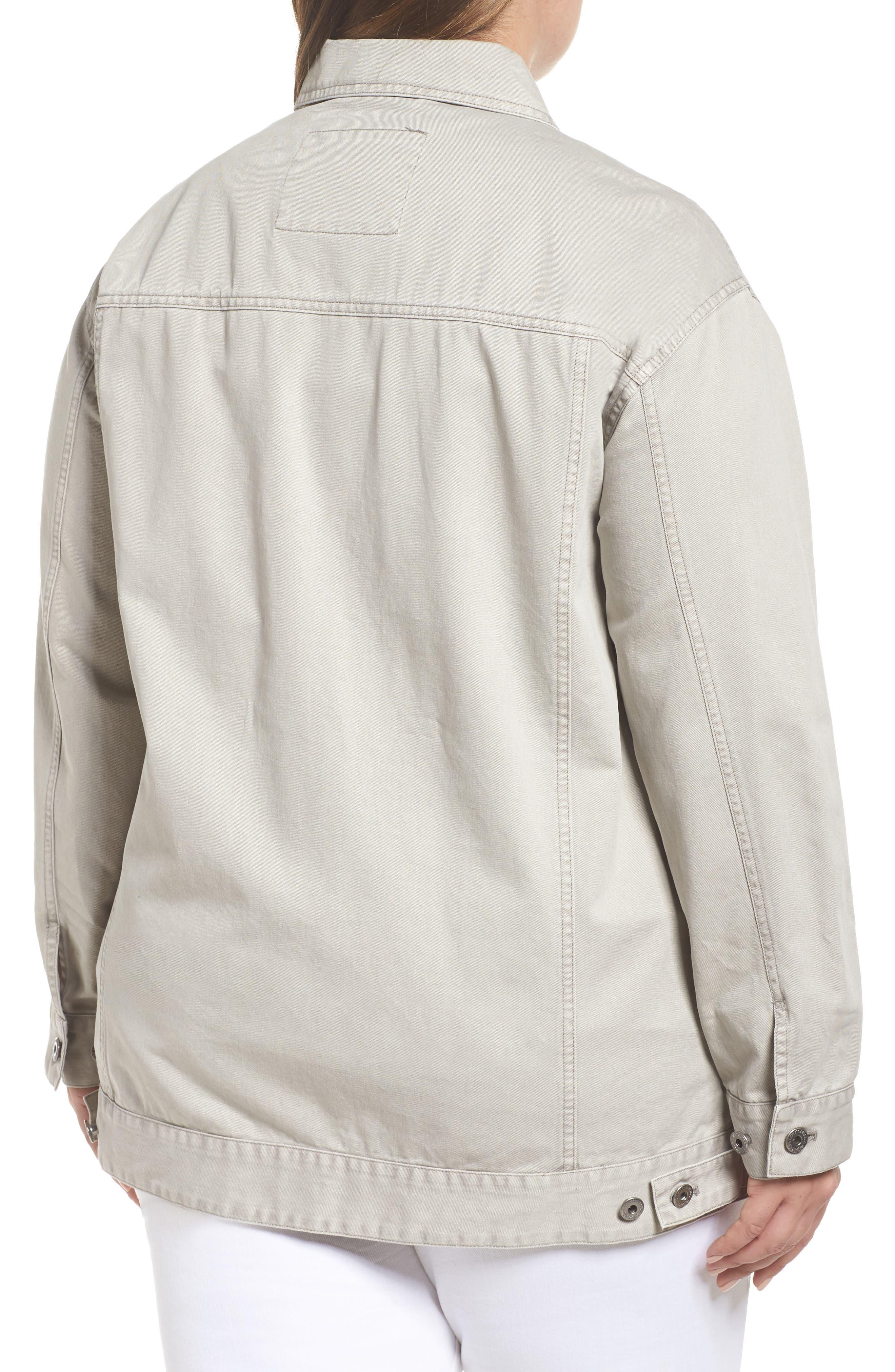 Oversize Cotton Canvas Trucker Jacket,                             Alternate thumbnail 2, color,                             030
