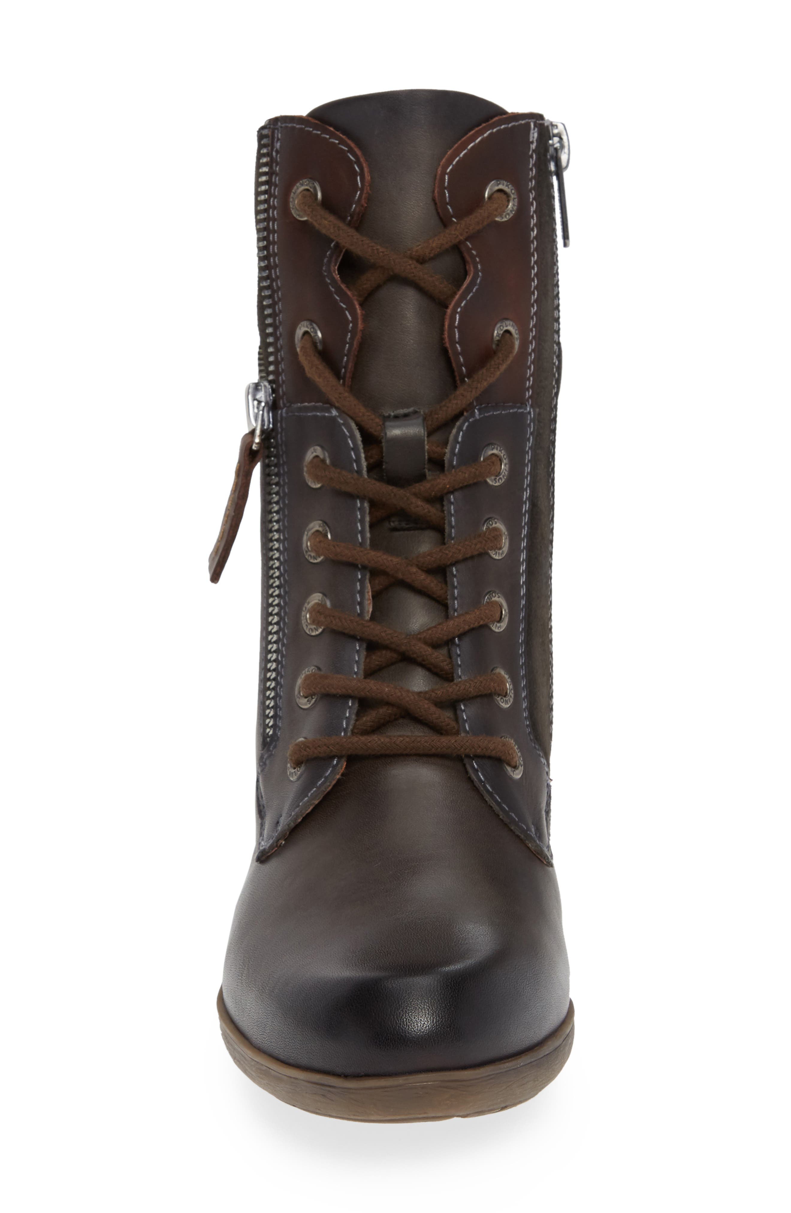 Rotterdam Bootie,                             Alternate thumbnail 4, color,                             LEAD LEATHER