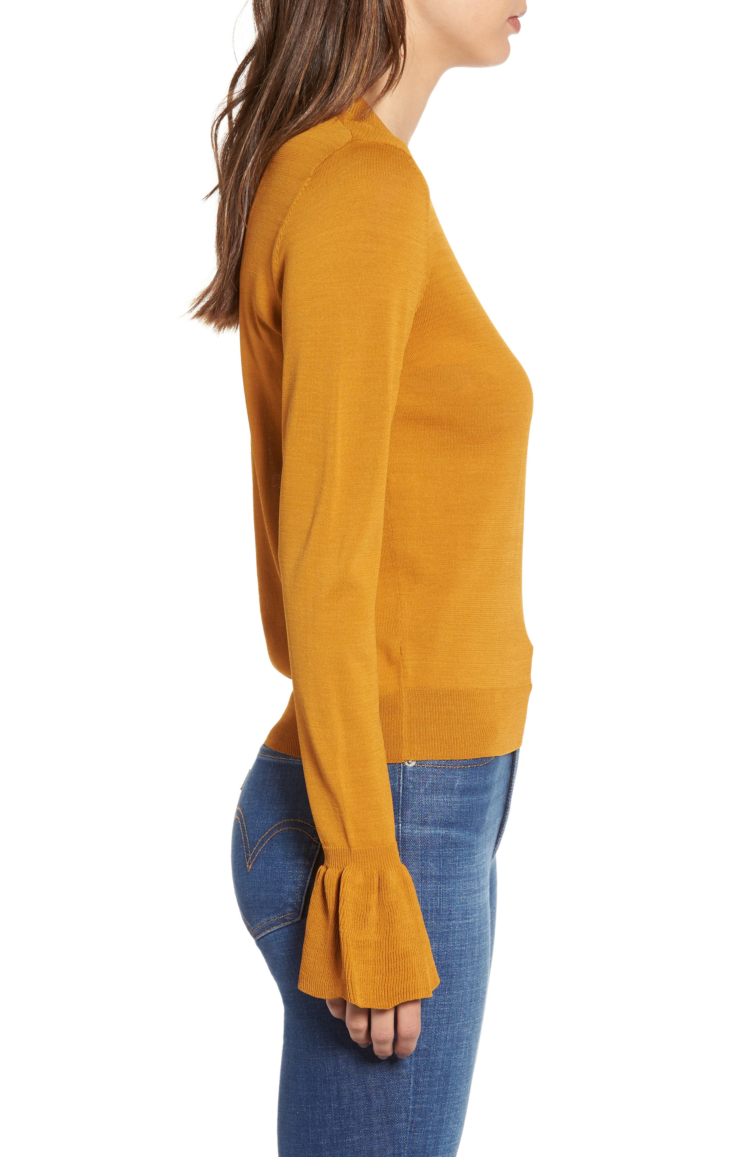 Flare Cuff Sweater,                             Alternate thumbnail 3, color,                             230