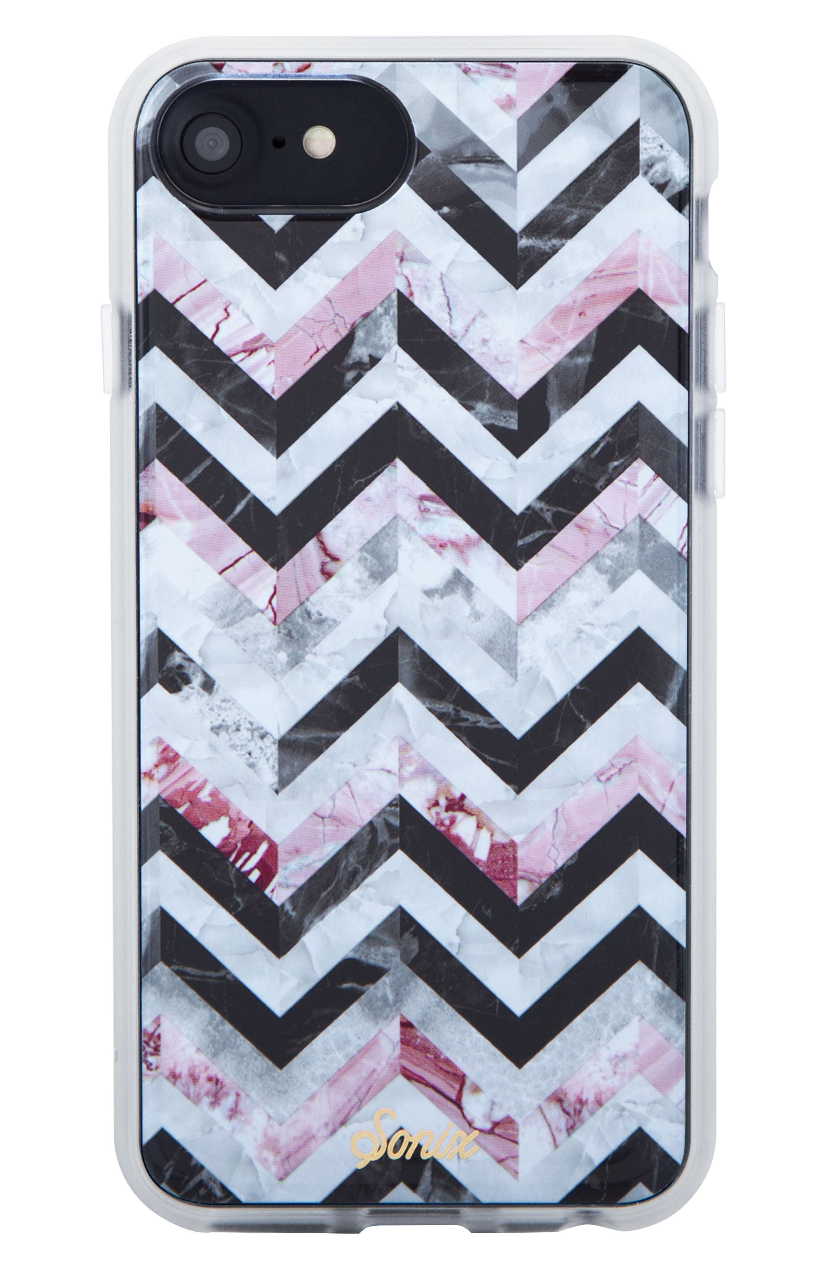City Tile iPhone 6/6s/7/8 & 6/6s/7/8 Plus Case,                         Main,                         color, BLACK/ MARBLE