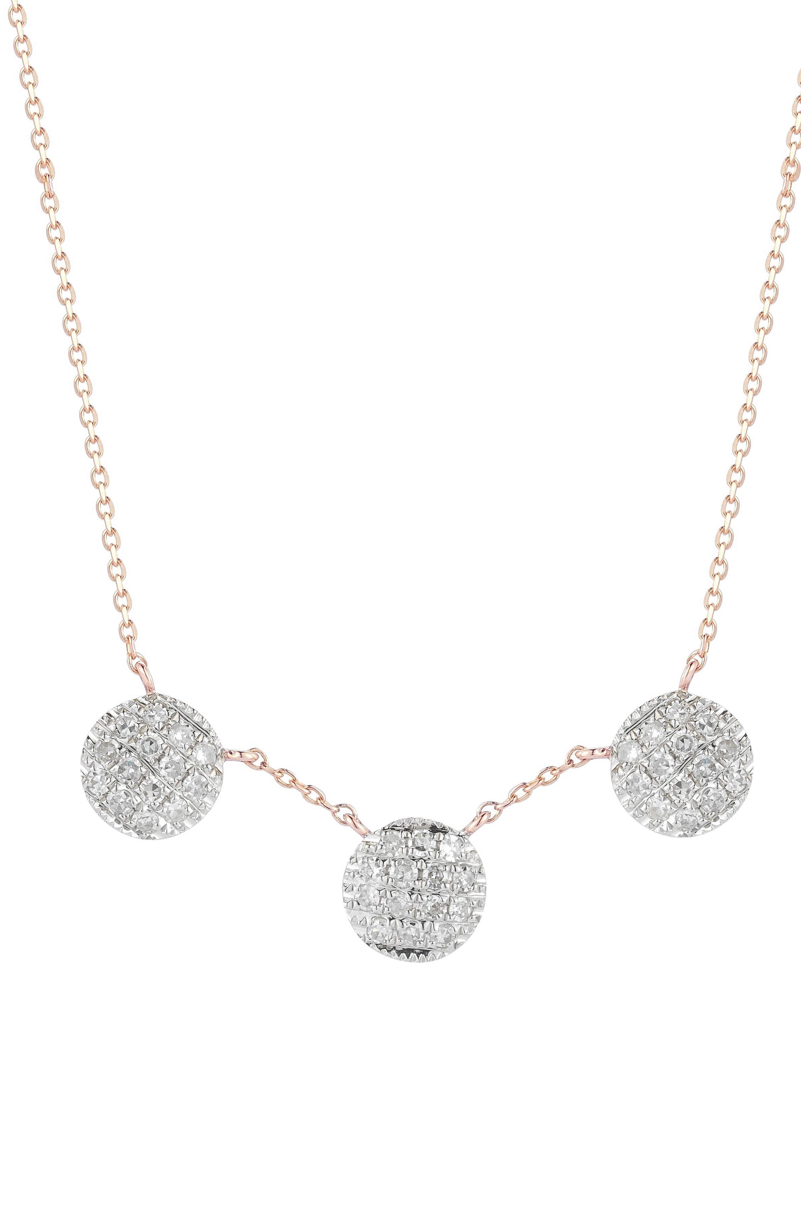 Lauren Joy Three-Disc Diamond Necklace,                             Main thumbnail 3, color,