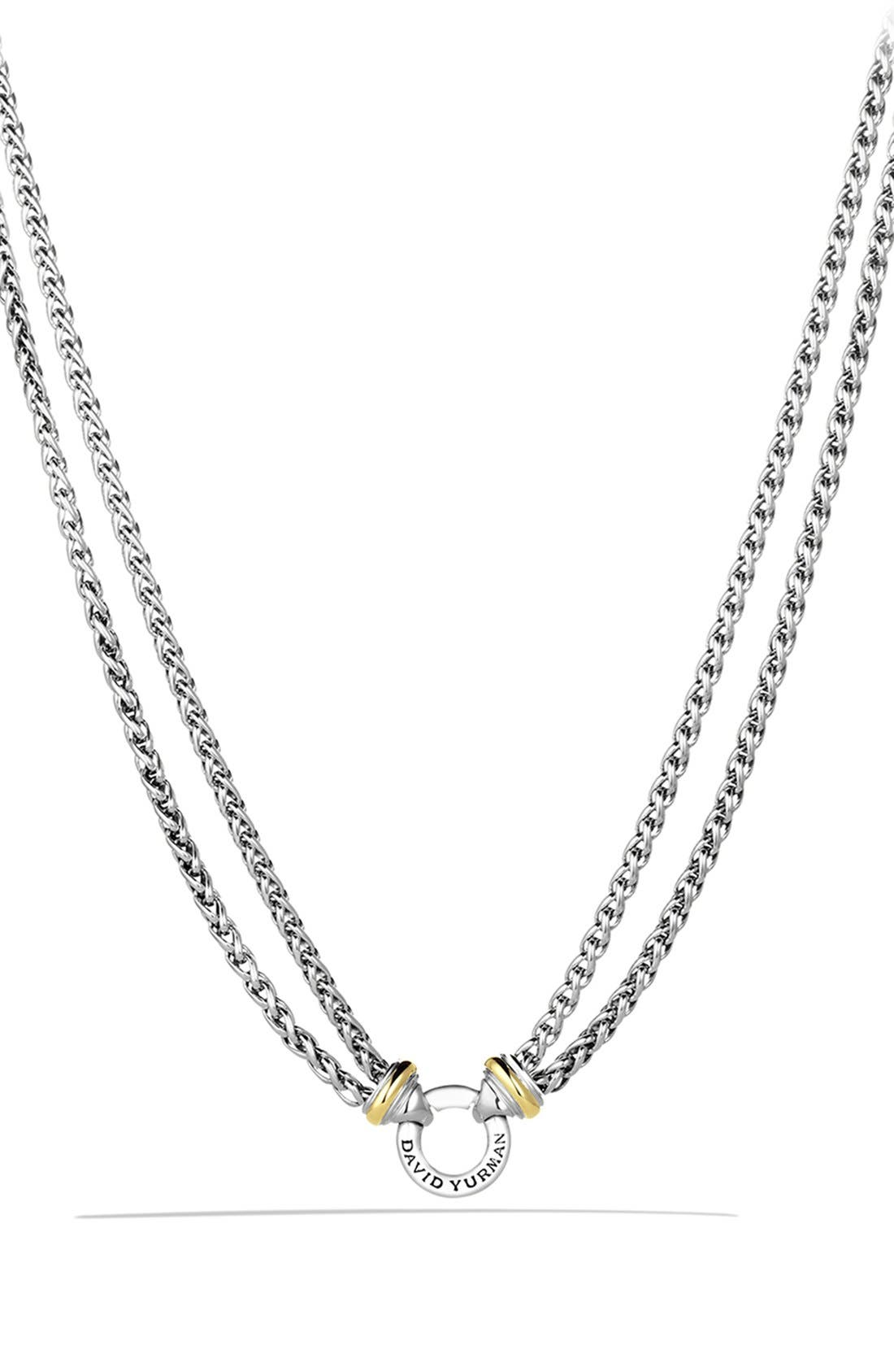 'Double Wheat' Chain Necklace with Gold,                         Main,                         color, TWO TONE