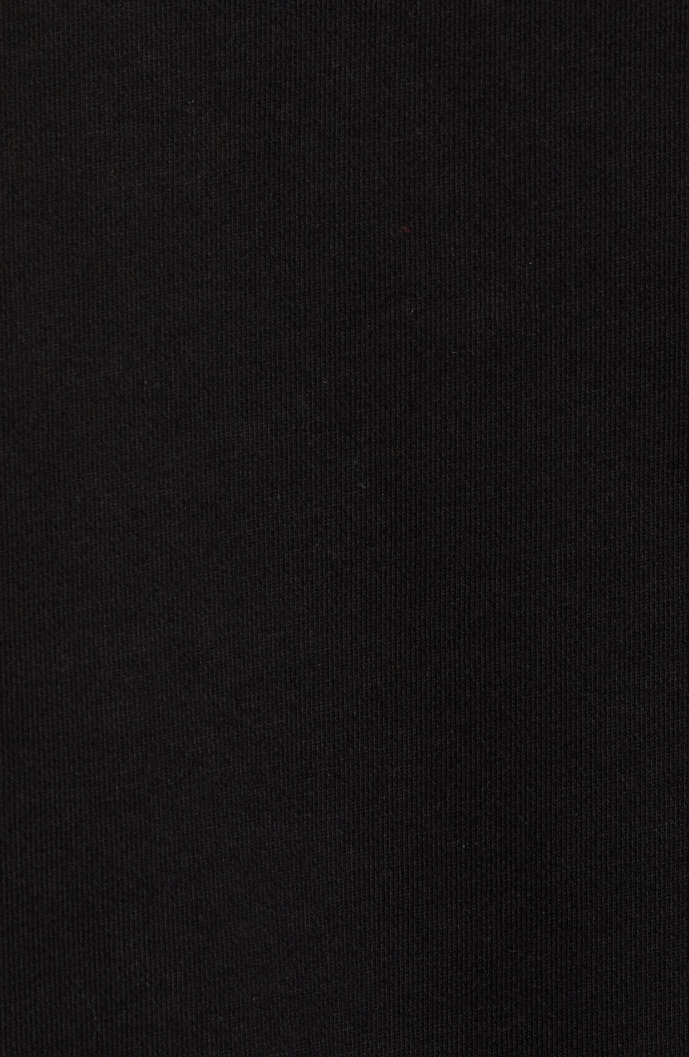 Nightmare Graphic Distressed Sweatshirt,                             Alternate thumbnail 5, color,                             BLACK
