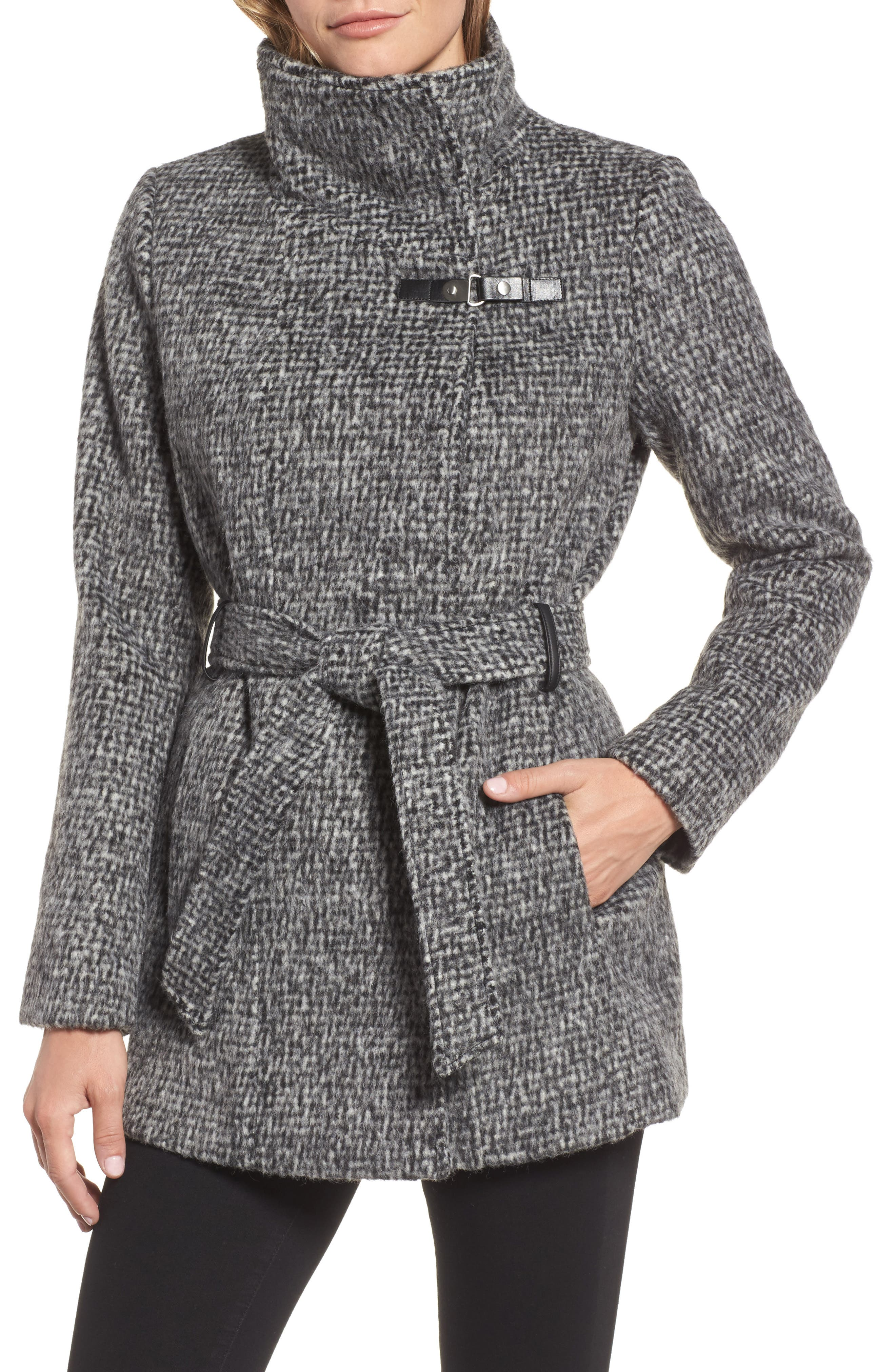 Belted Wrap Coat,                             Alternate thumbnail 7, color,