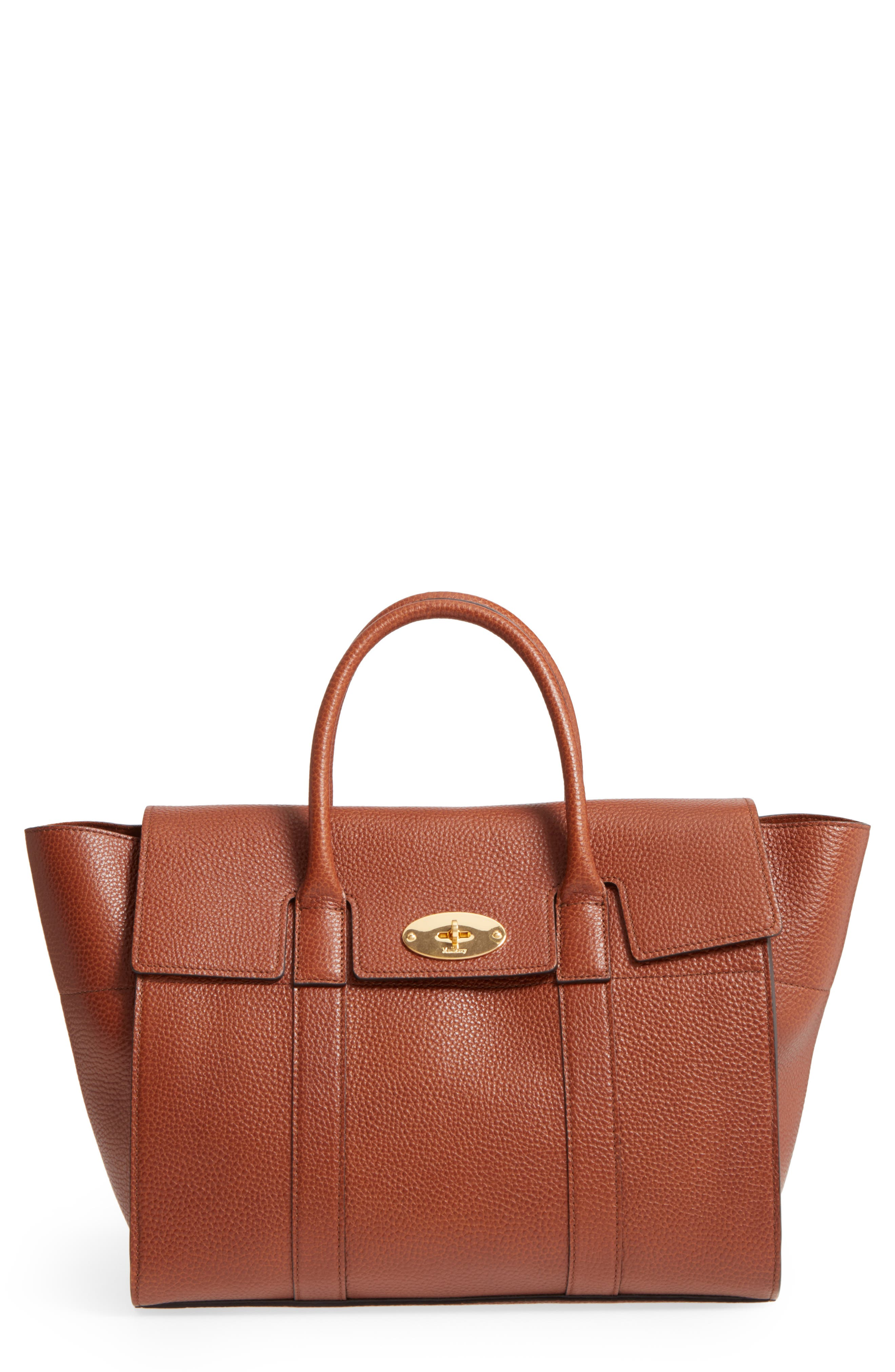 Bayswater Calfskin Leather Satchel,                         Main,                         color, 201