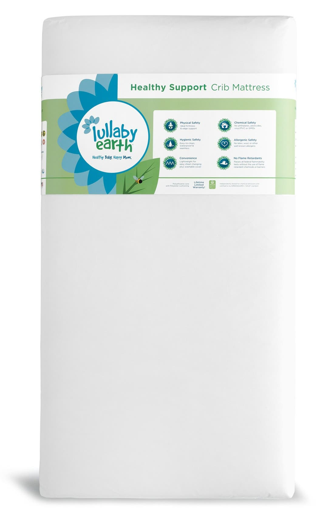 Crib Mattress,                             Main thumbnail 1, color,                             WHITE