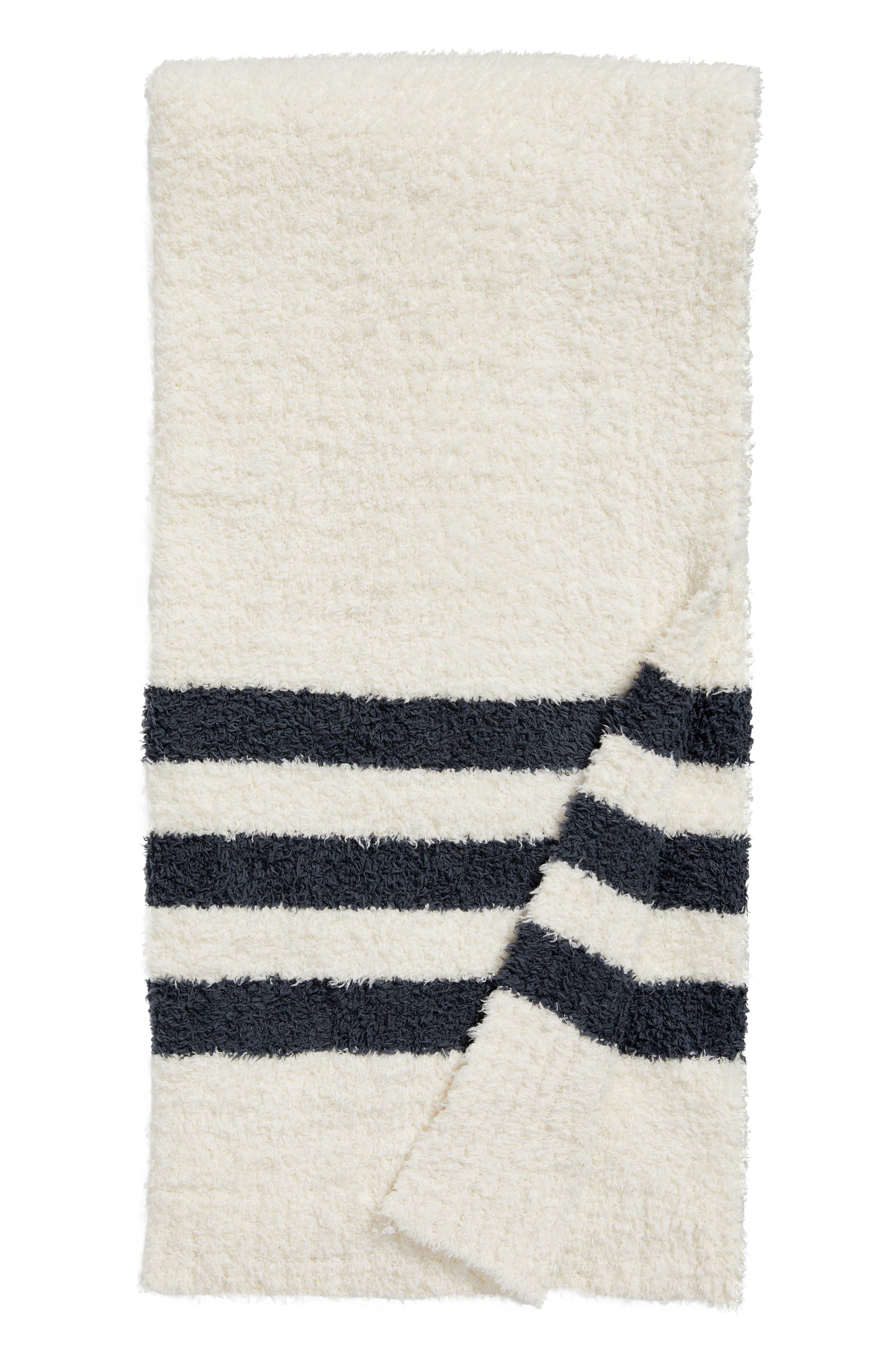 Barefoot Dreams Cozychic<sup>®</sup> Tri Stripe Throw Blanket,                             Main thumbnail 5, color,